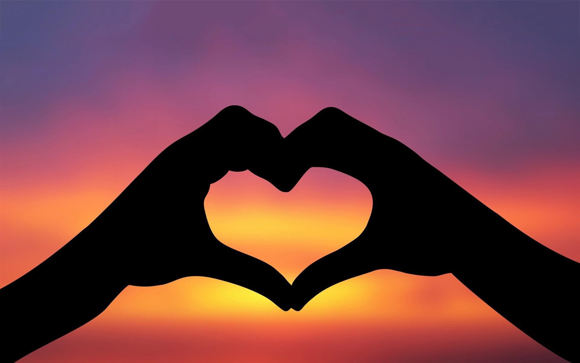 Hands Love Sunset