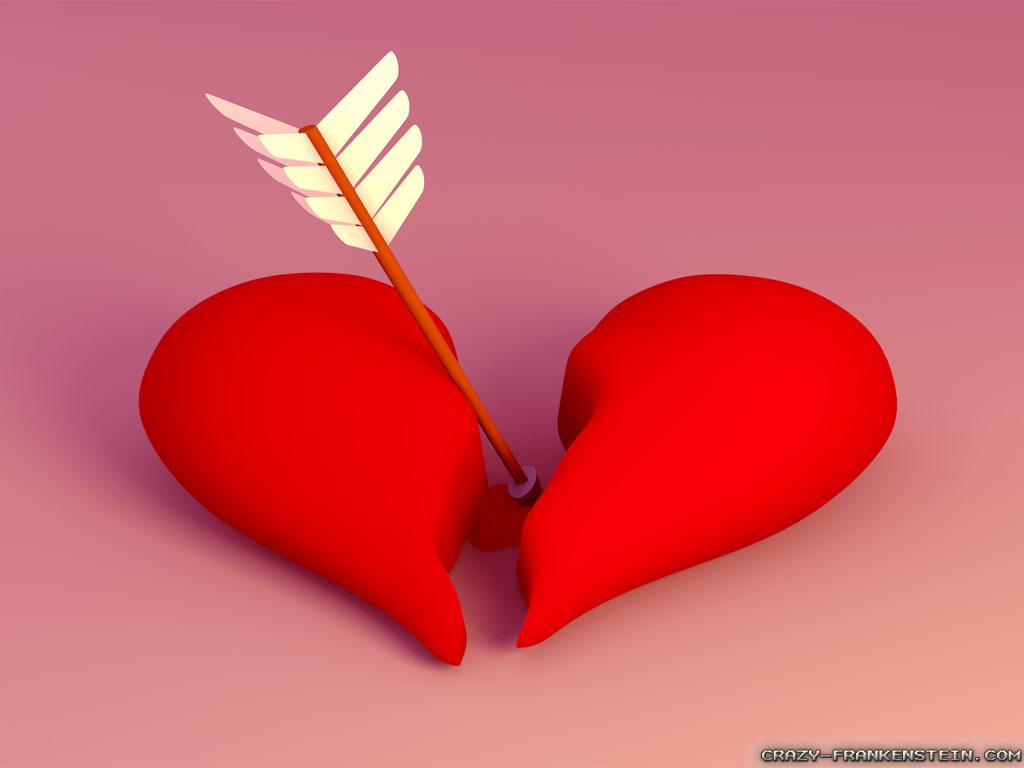 Arrow To Broken Heart Wallpaper Desktop | High Quality Wallpapers,Wallpaper Desktop,High Definition Wallpapers FREE - WallpaperFast.com
