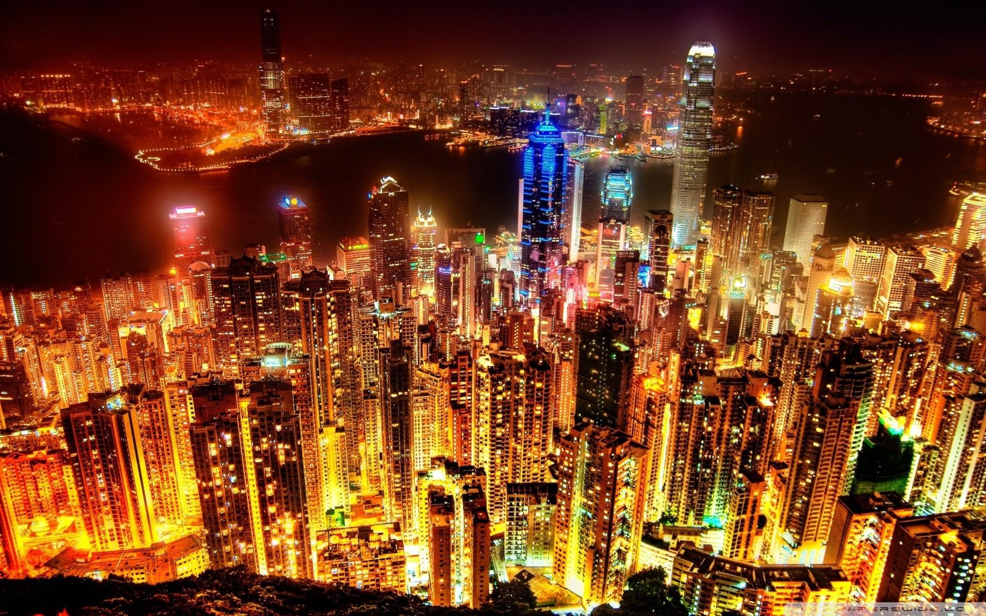 HD City Lights Wallpaper
