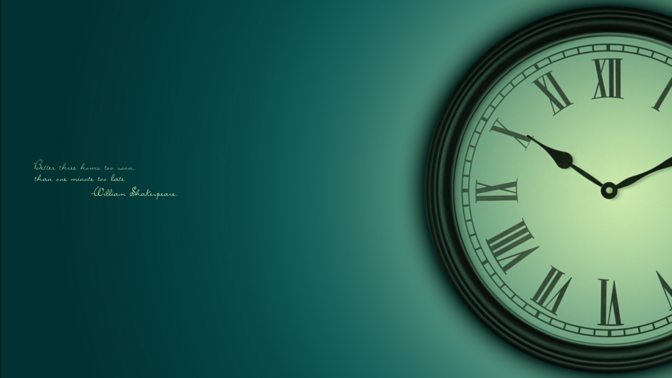 HD Clock Wallpaper