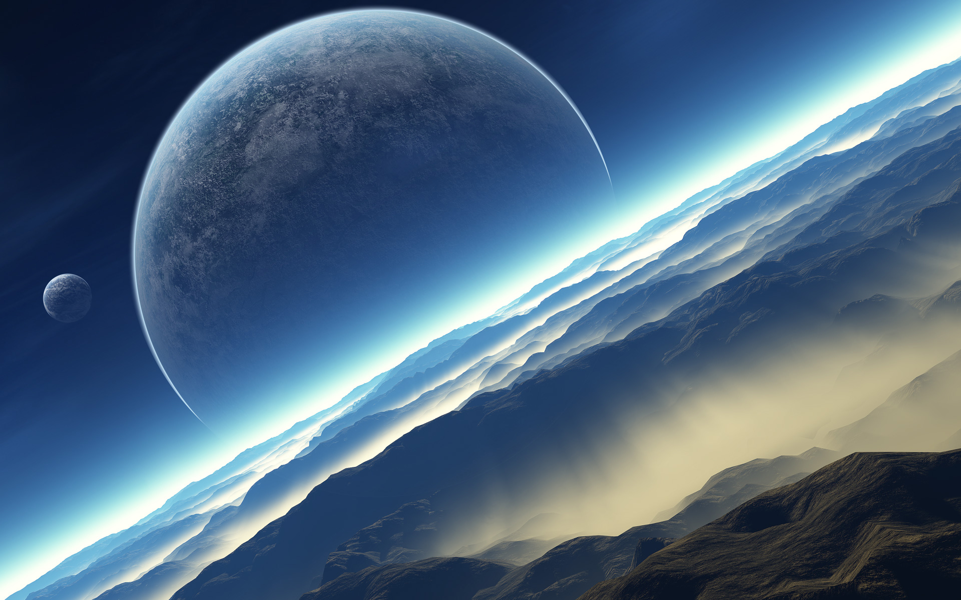 3D Space Scene Res: 1920x1200 / Size:837kb. Views: 257061