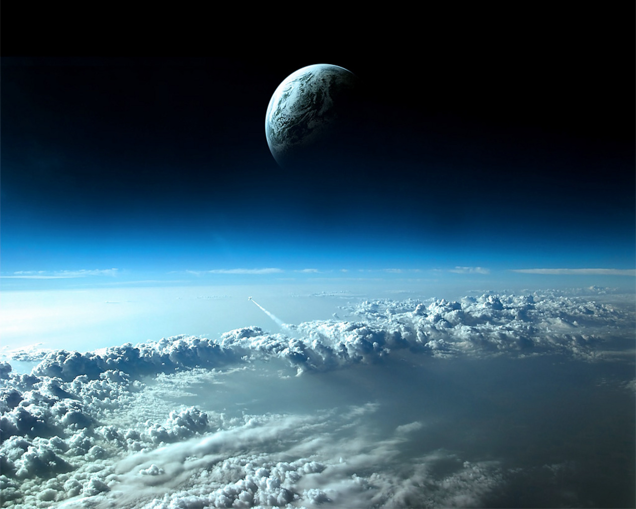 3D Space Scene Res: 1280x1024 / Size:274kb. Views: 477044