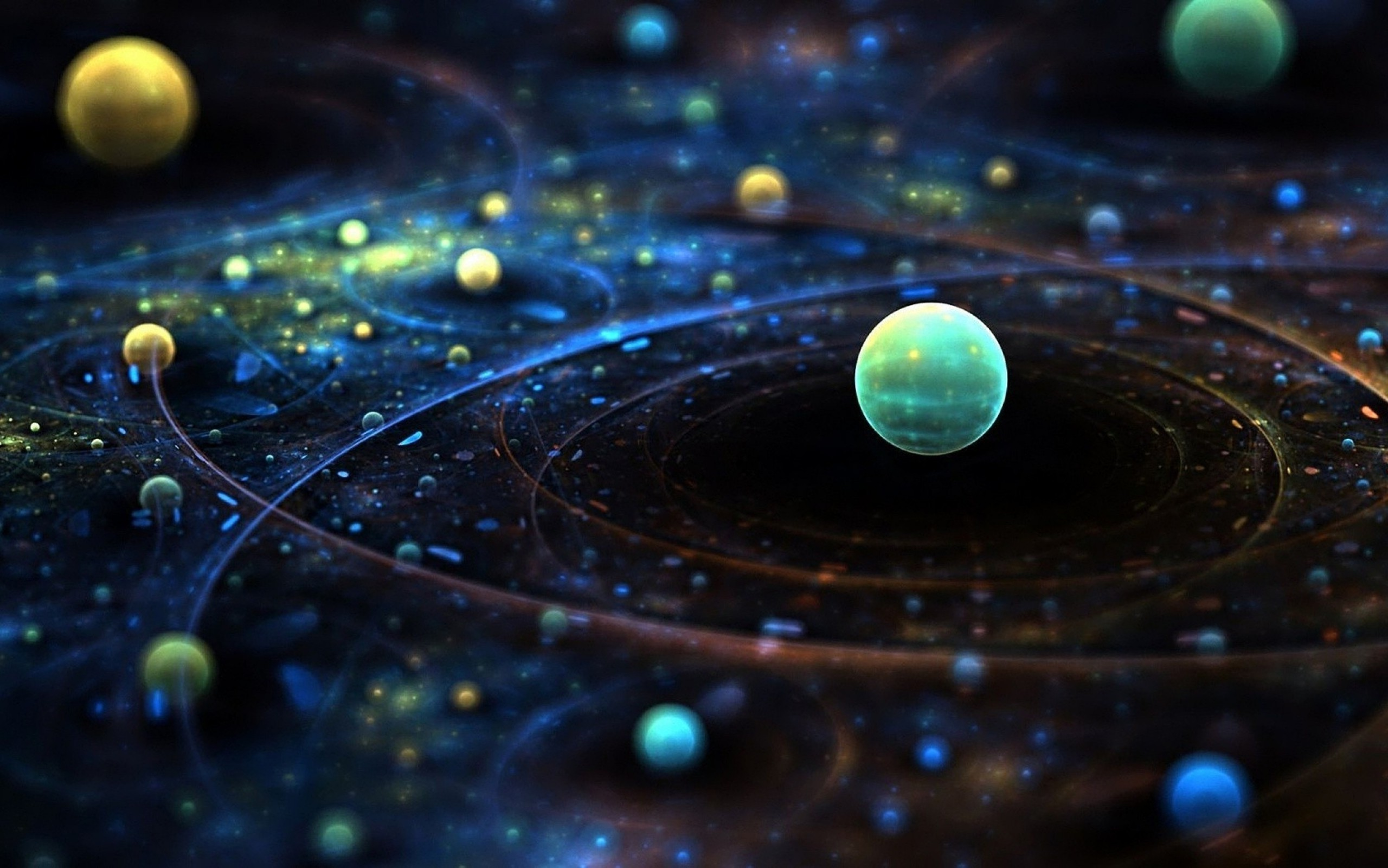 Abstract View of Planets Best HD Wallpaper