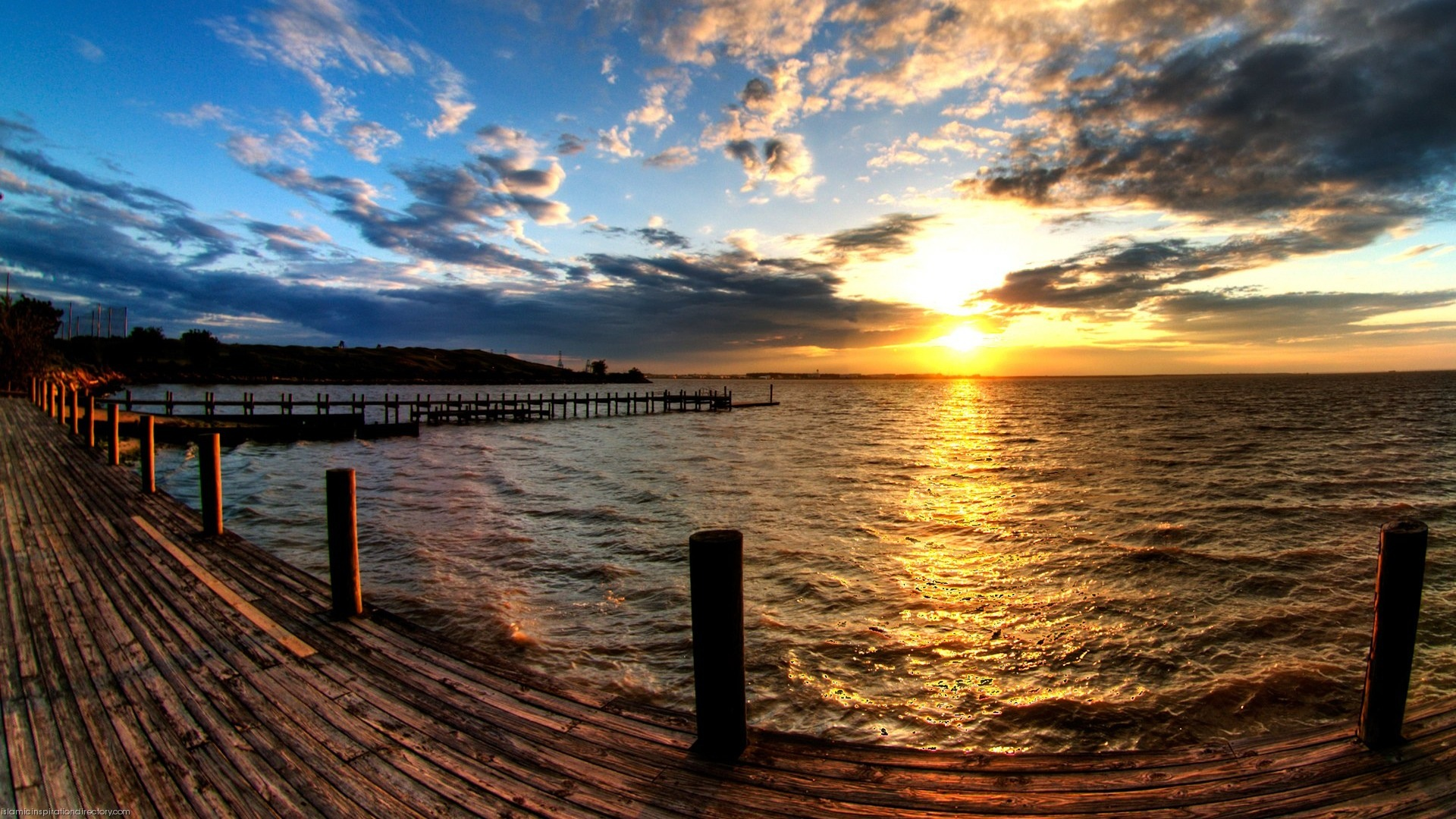 Hdr Cloudy Sunset Beach Wallpapercapitalcom