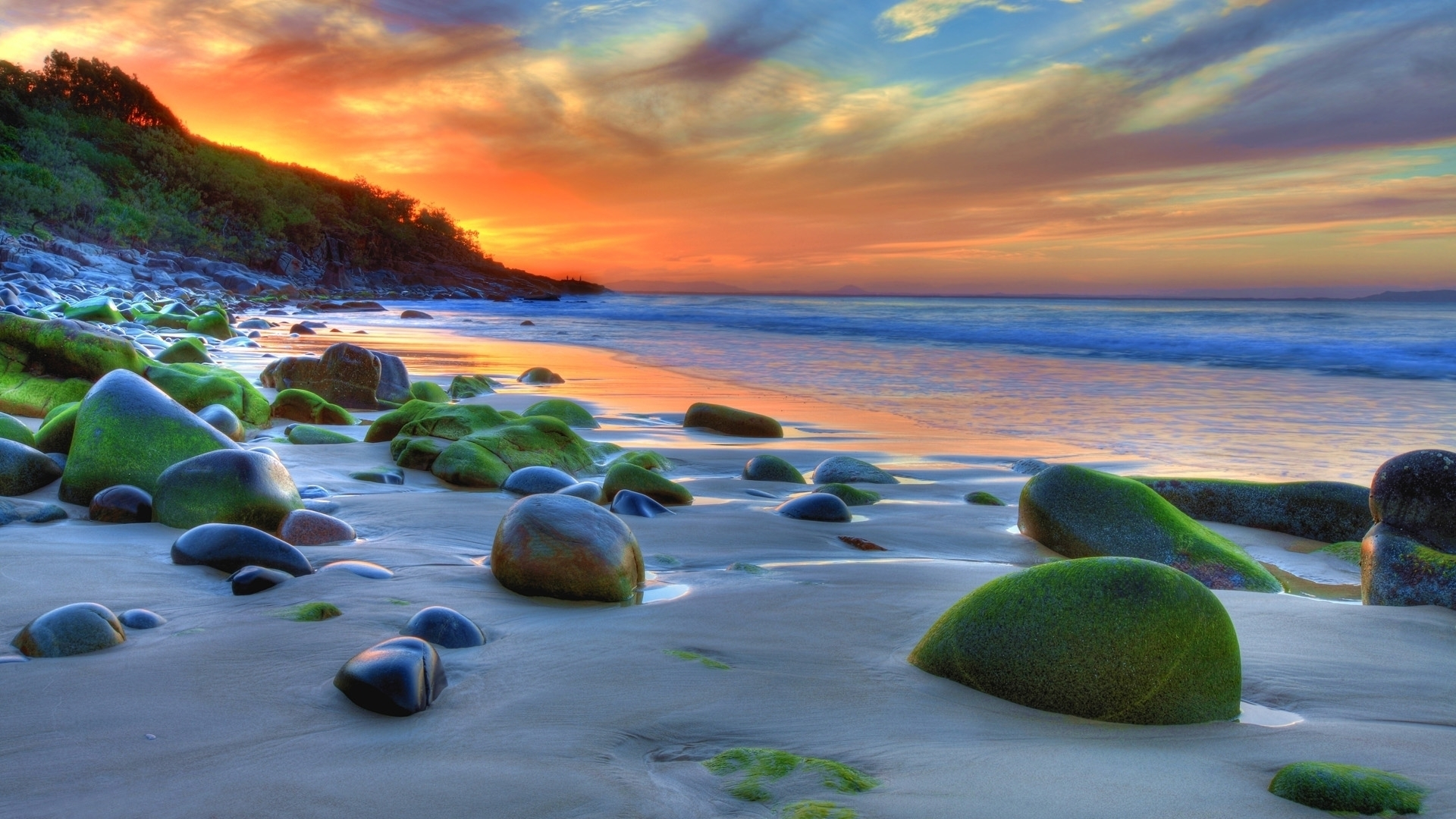 HDR Beach Wallpaper