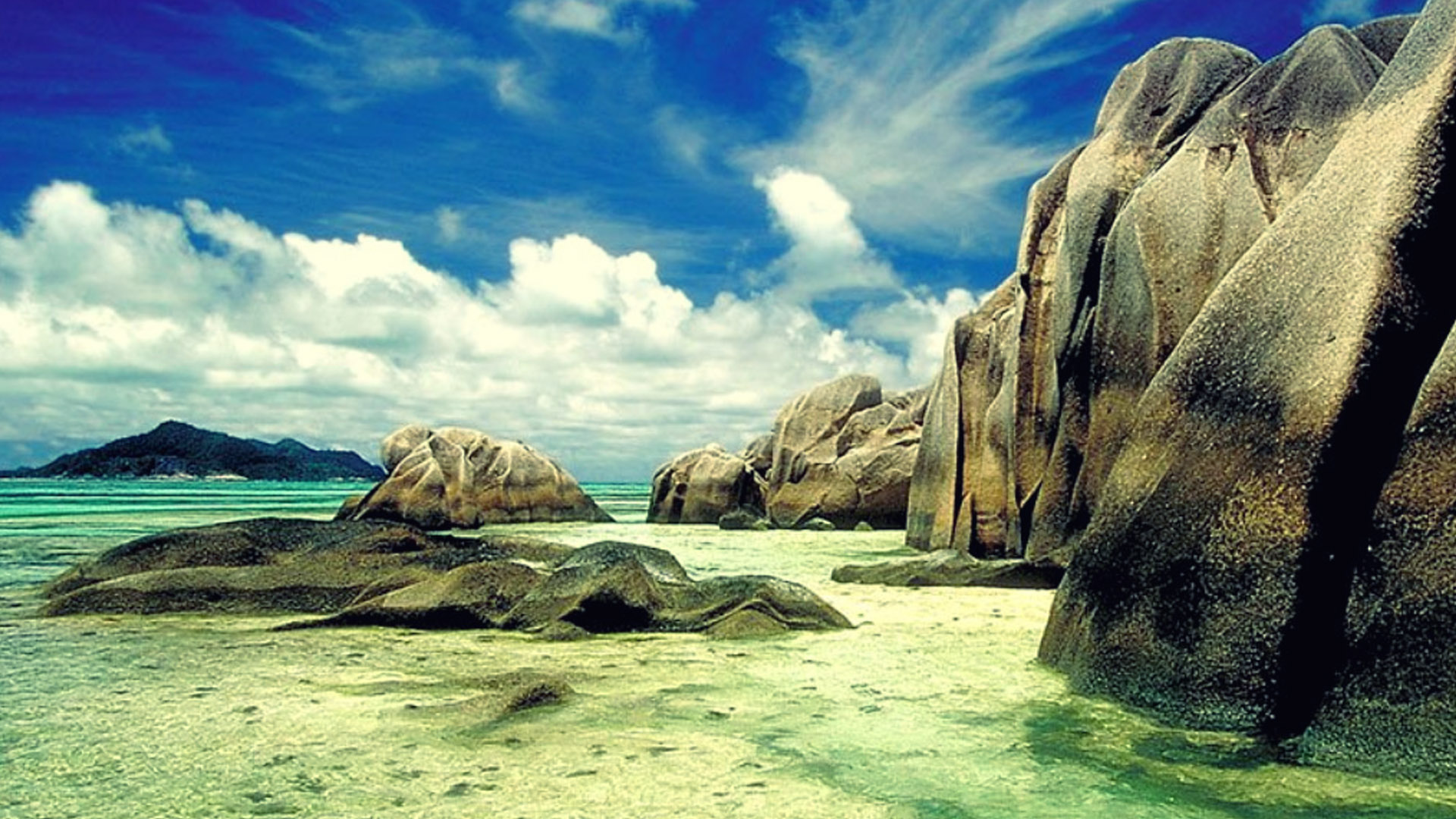 Hd Seychelles Beach Hdr Wallpaper Download Free 1920x1080px