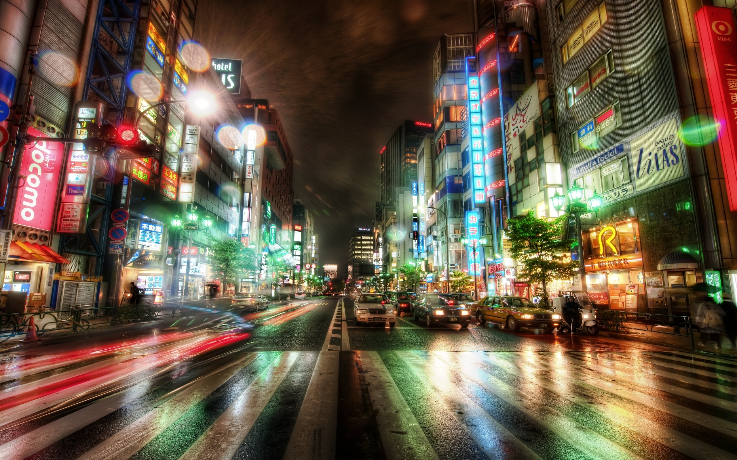 2560x1600 Wallpaper city, night city, tokyo, hdr