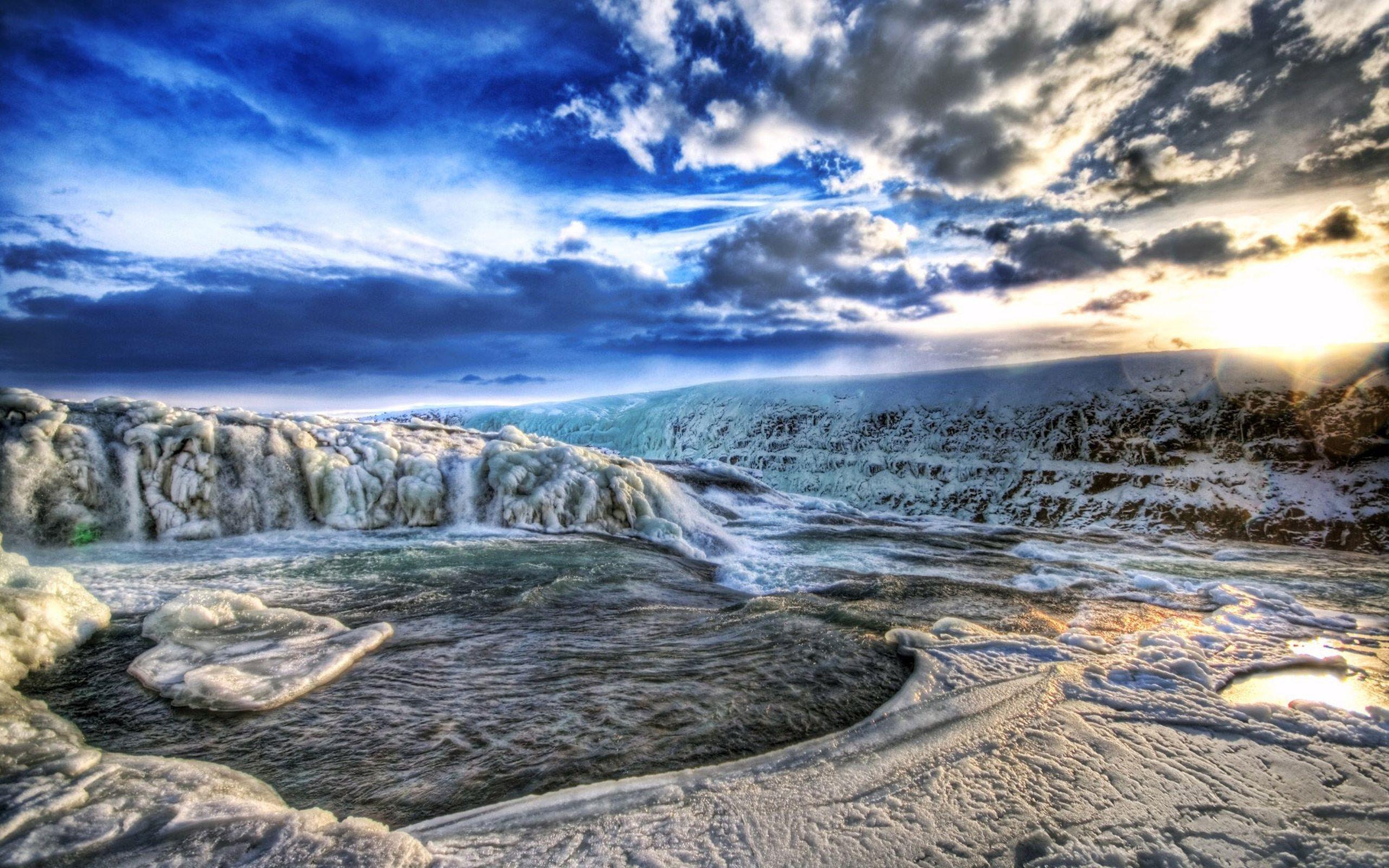 2560x1600 Wallpaper lake, light, nature, sea, hdr