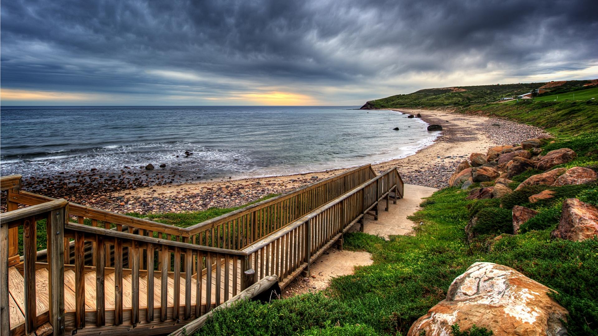 Wallpaper Dump.. HDR Nature-nature-landscapes_hdwallpaper_wooden-walkway-beach-hdr_2090