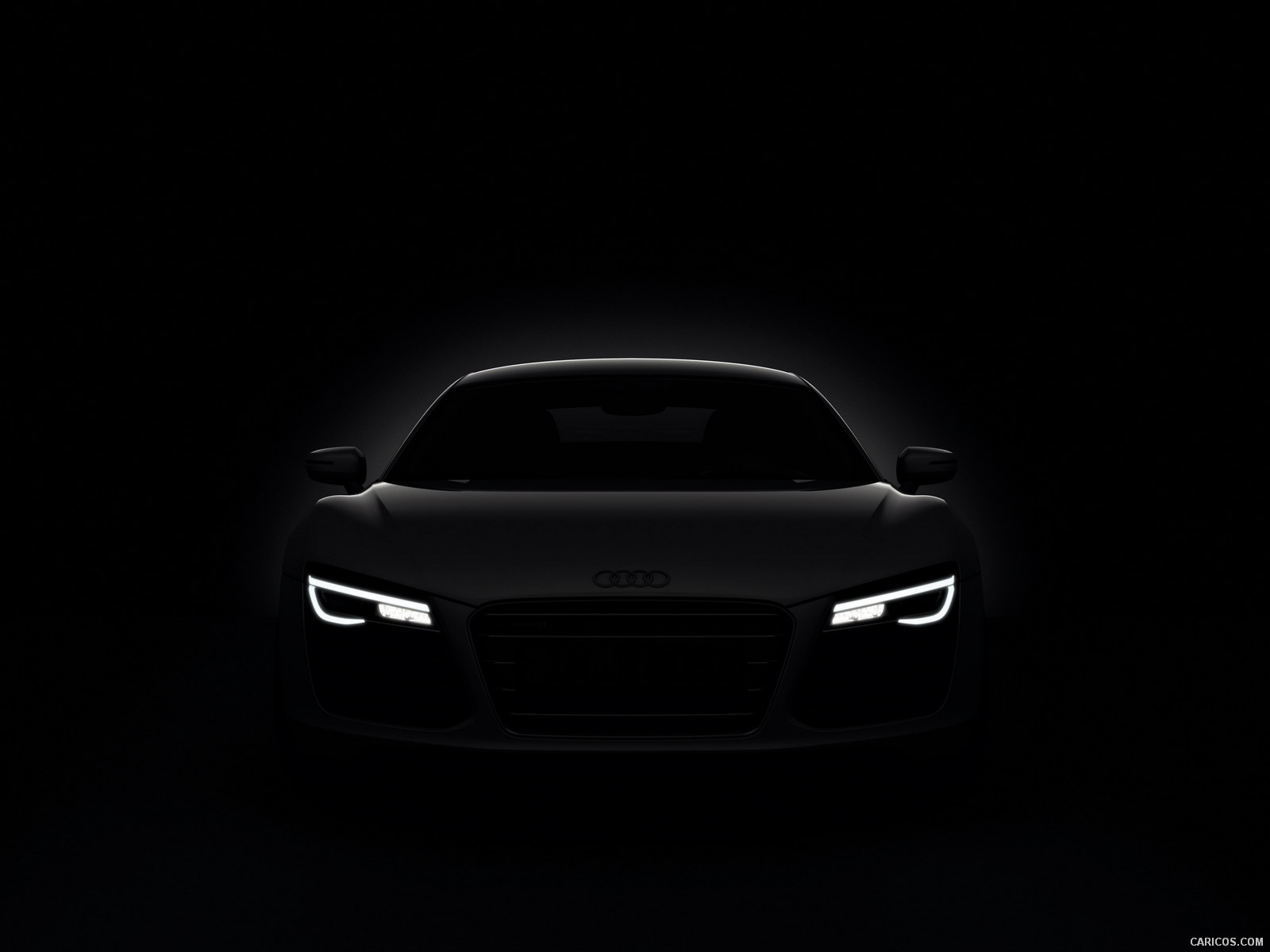 2013 Audi R8 LED Headlights - Wallpaper