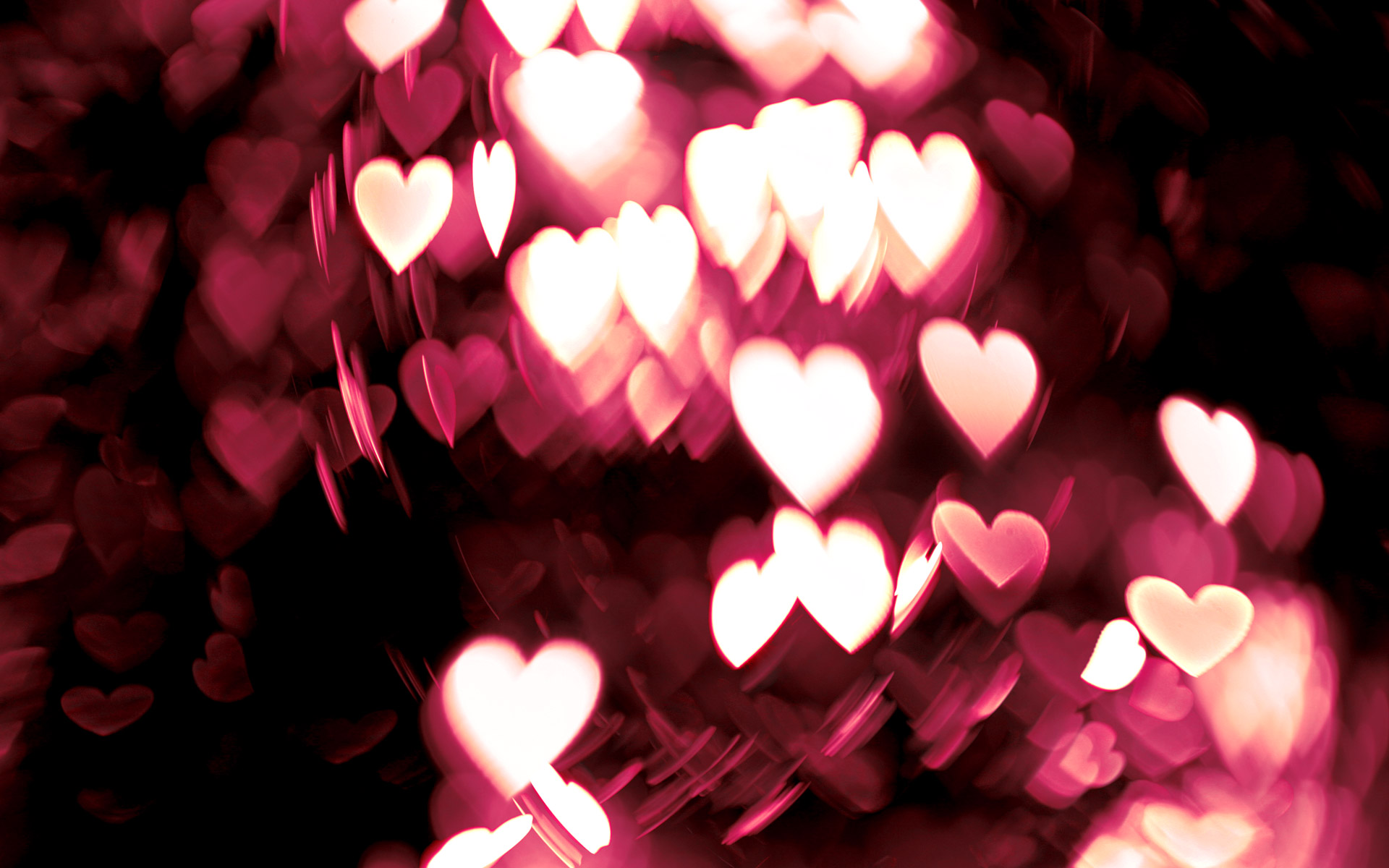 Heart Bokeh Wallpaper