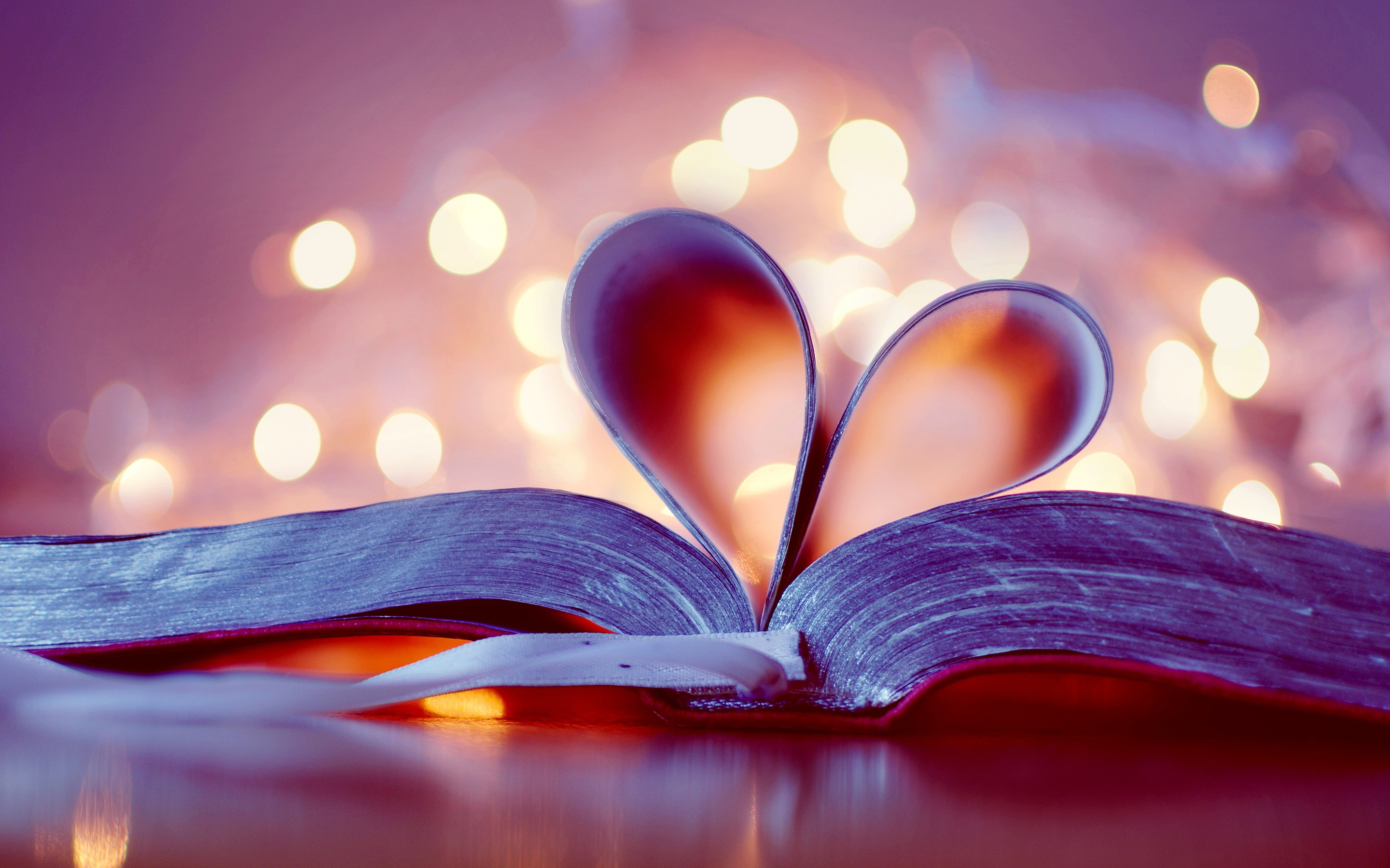 Heart book bookmark
