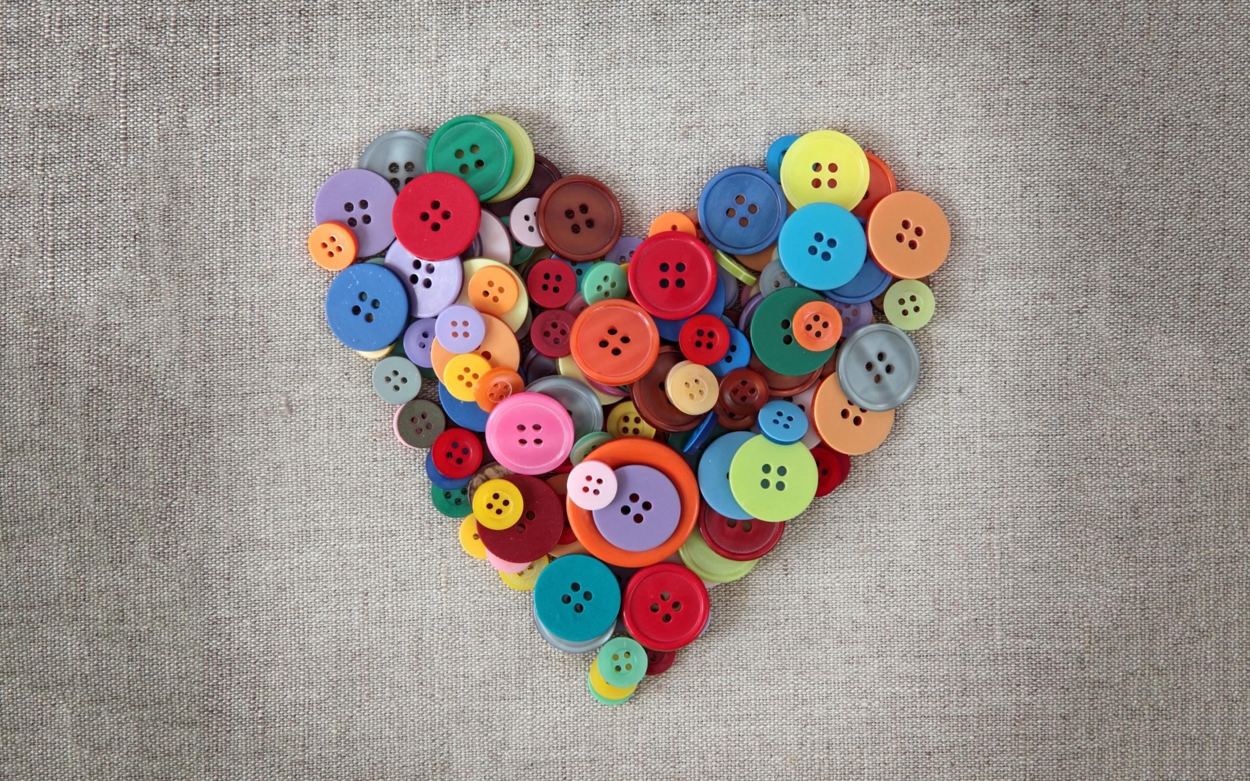 Heart Buttons Love