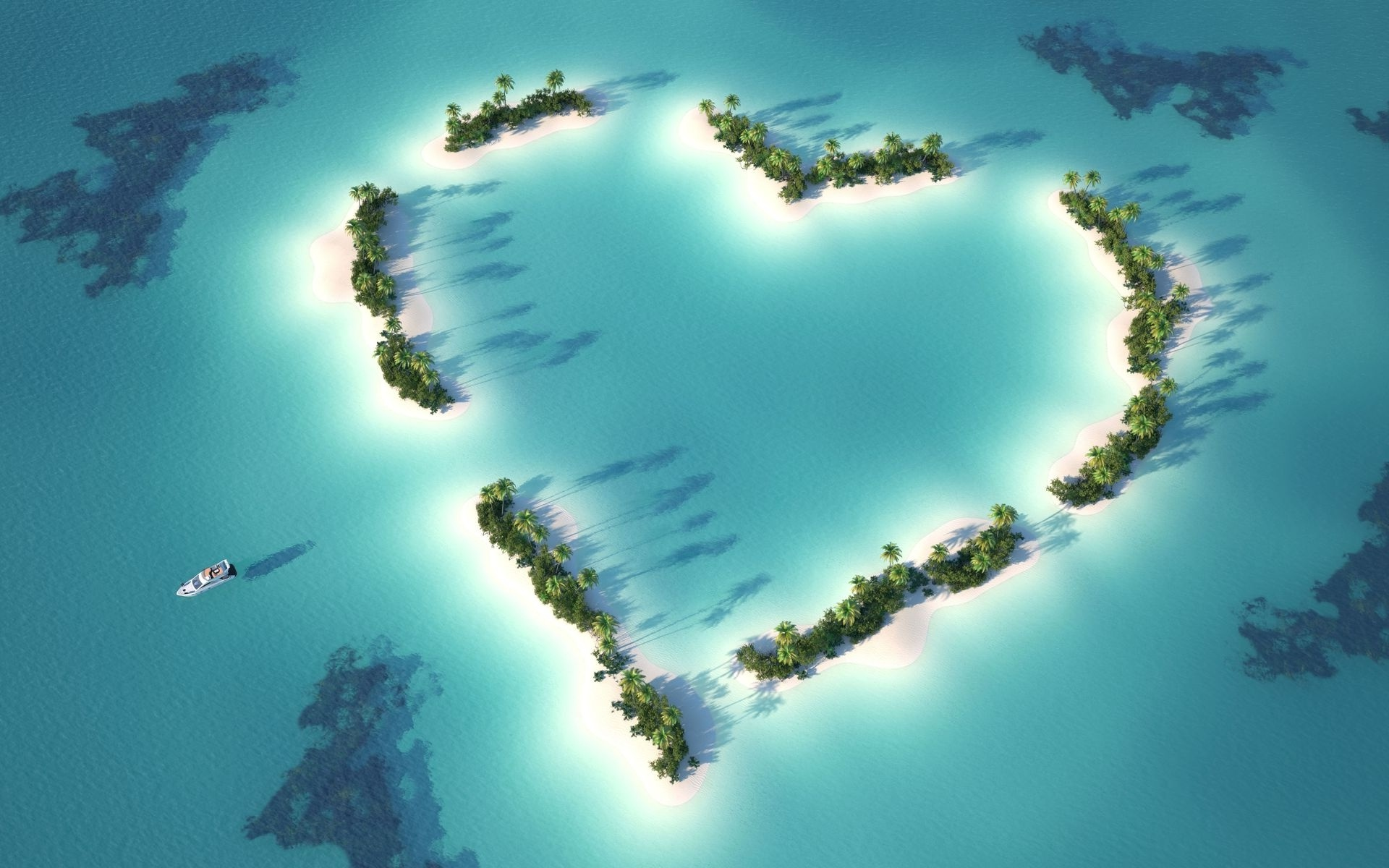 Islands in the Shape of Love Heart (click to view)