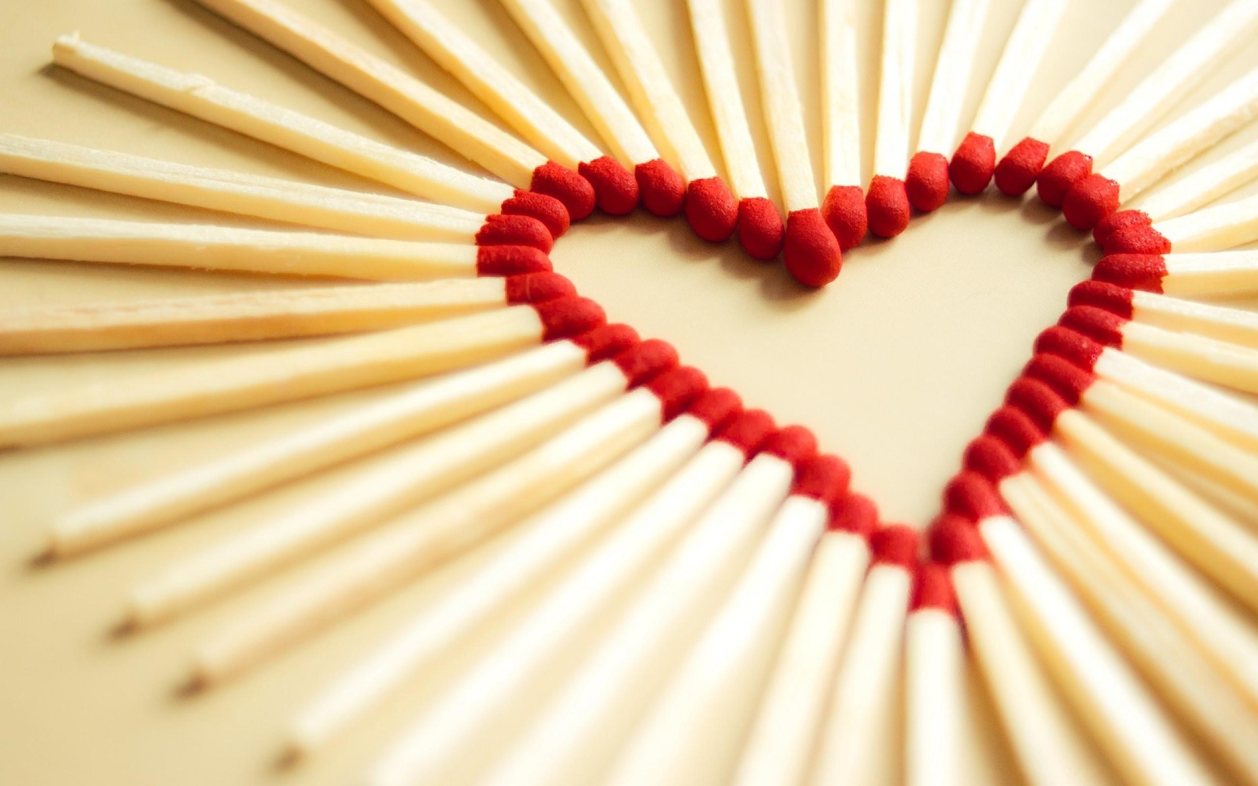 Heart Matchsticks