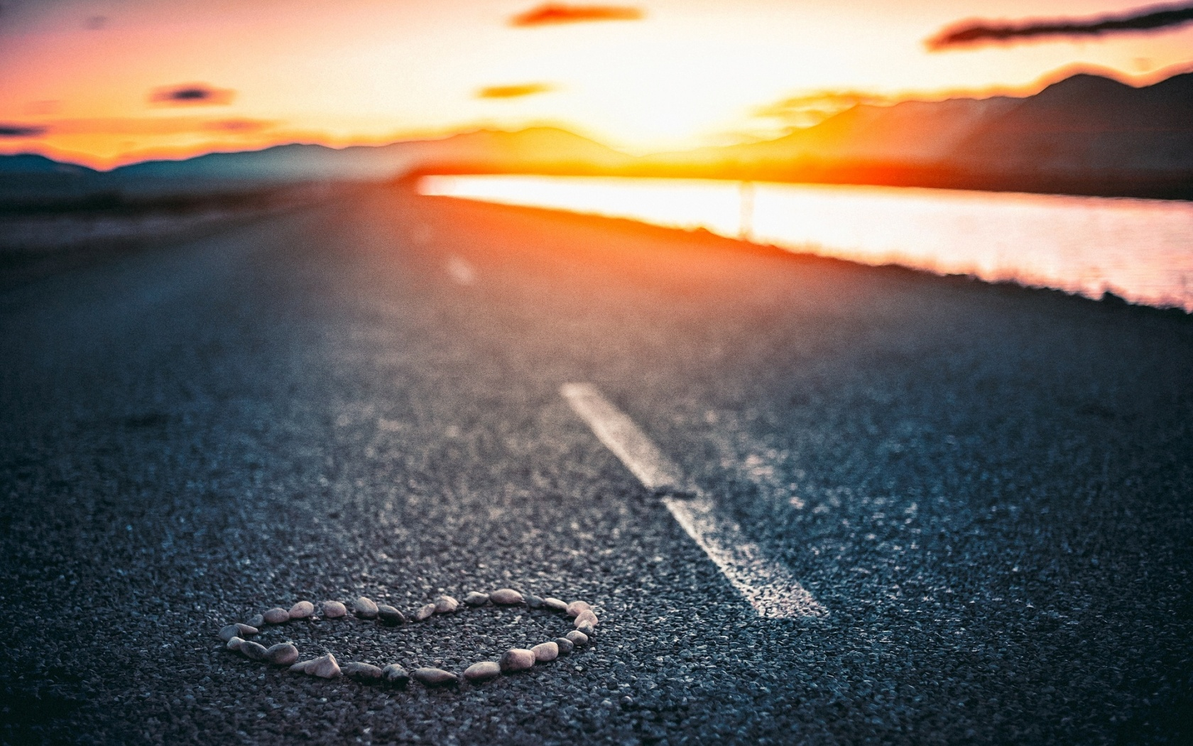 Heart on Road