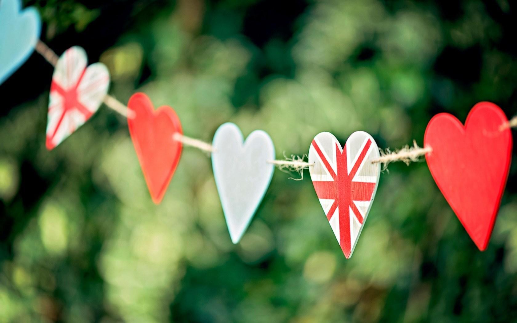 Heart UK Flag Love