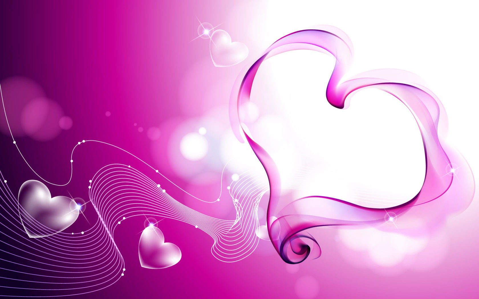 Hearts Pink Love