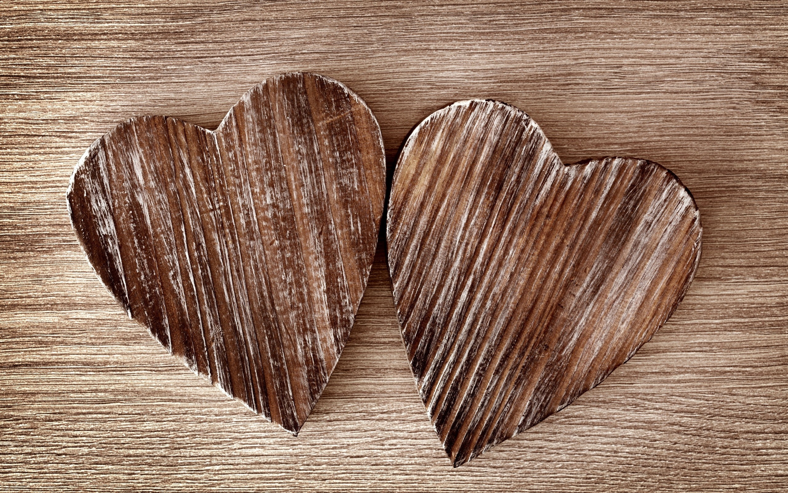 Hearts Wood Love
