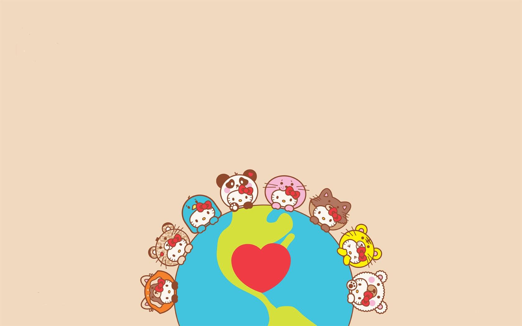 Hello Kitty Heart Art