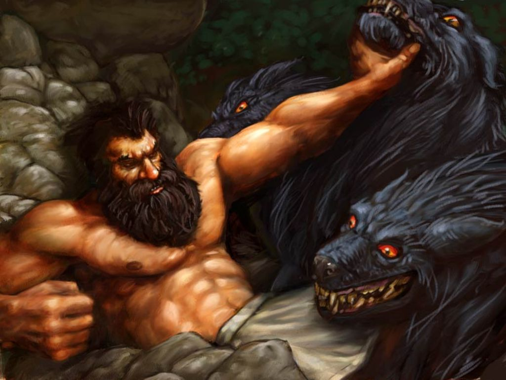 Hercules traveled the underworld and after defeating many monsters on the way he found Hades (Pluto in Roman mythology). He asked Hades where Cerberus was ...