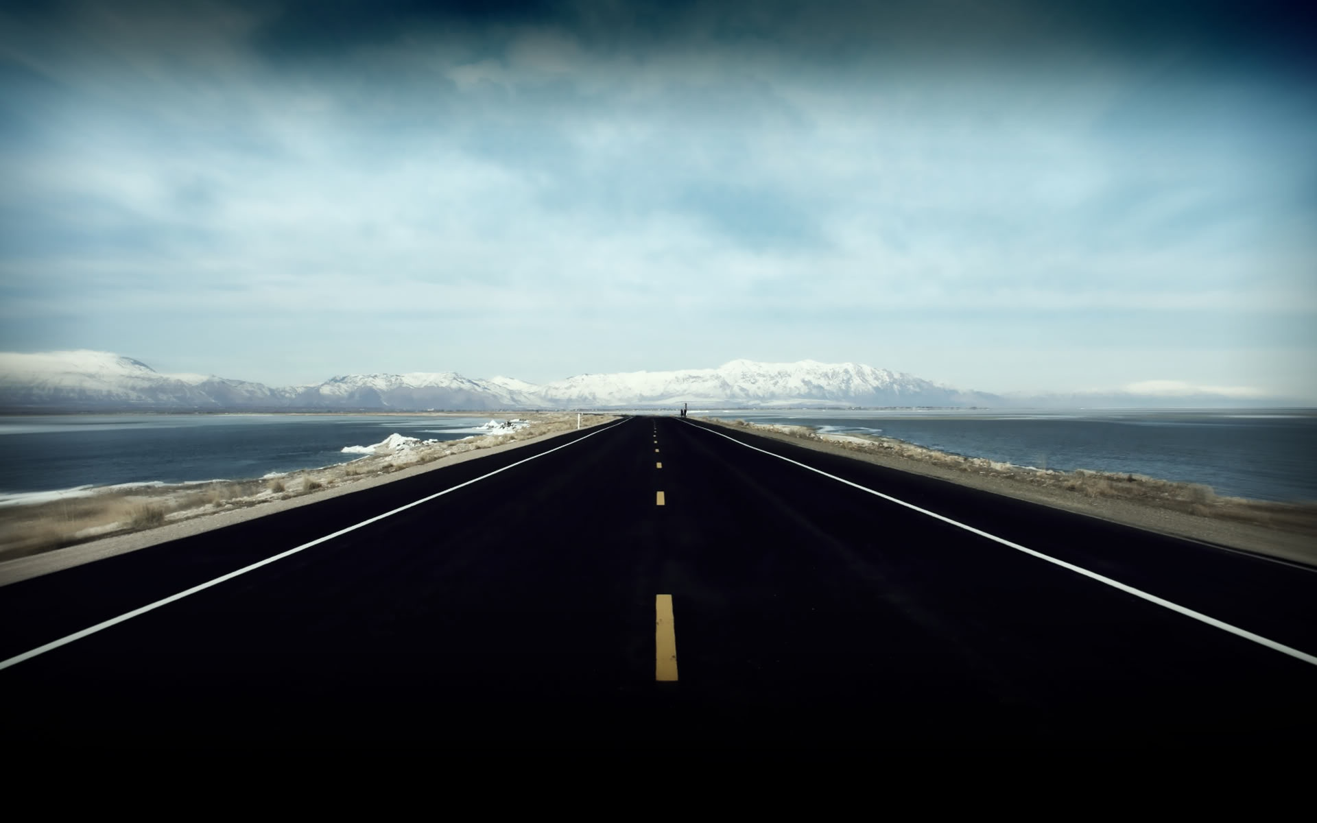 Open Highway 1920x1200 background