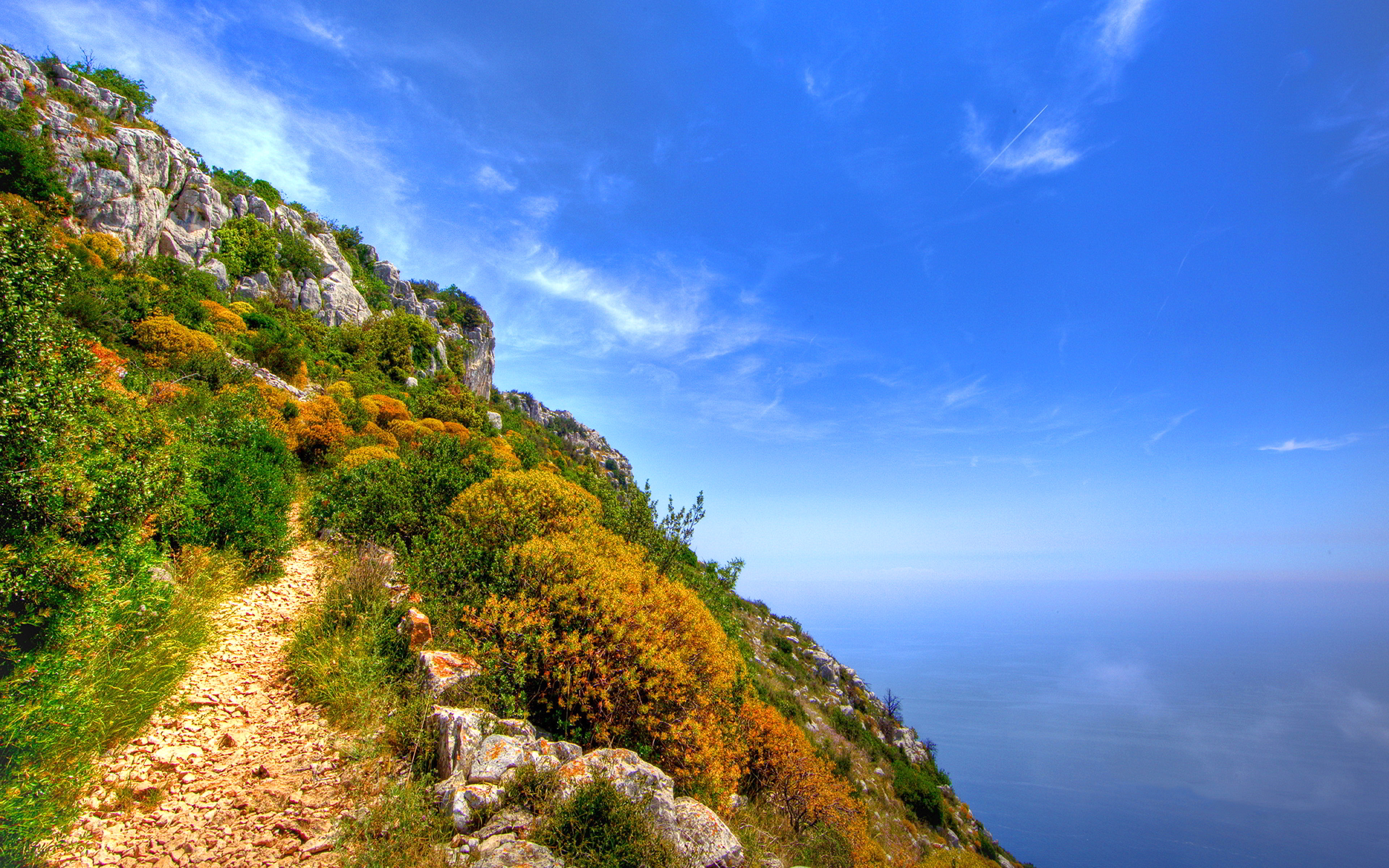 Hill sea scenery