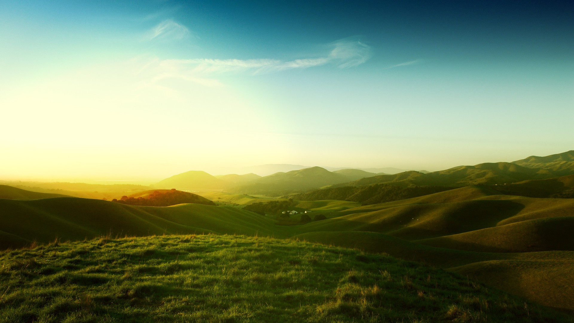 ... green hills 1920x1080 wallpaper ...