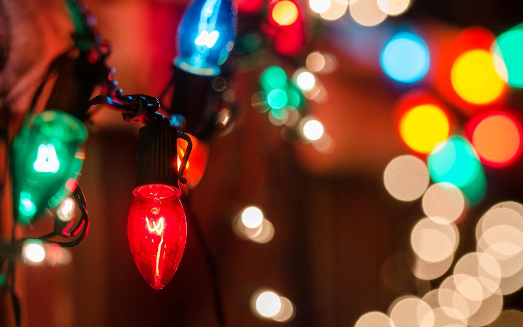 Holiday Lights Garland Bokeh New Year
