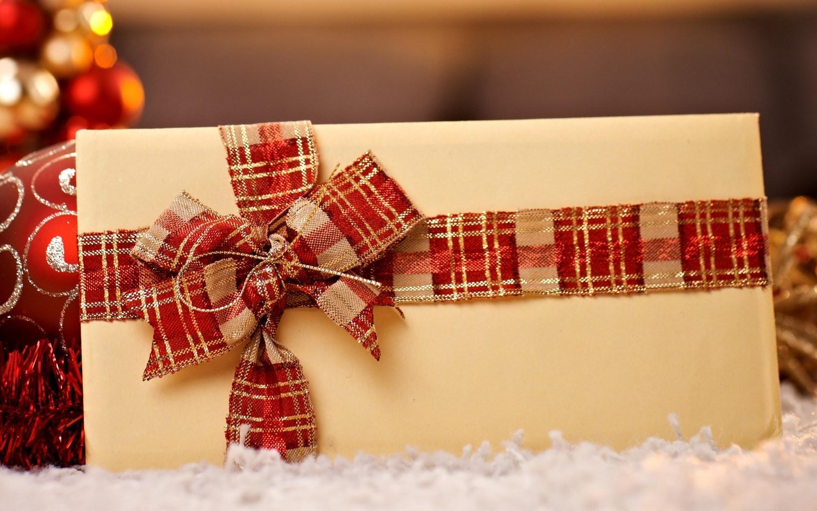 Holiday Envelope Bow Ribbon Christmas Winter New Year