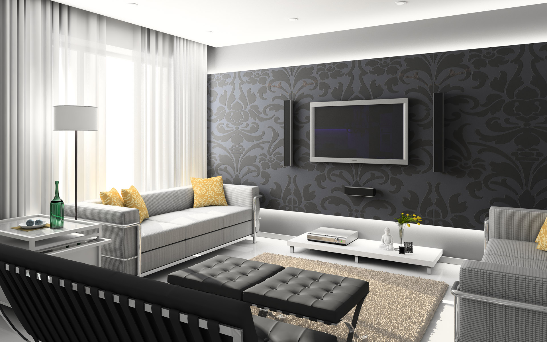 Modern Home Interior Res: 1920x1200 / Size:380kb. Views: 98267