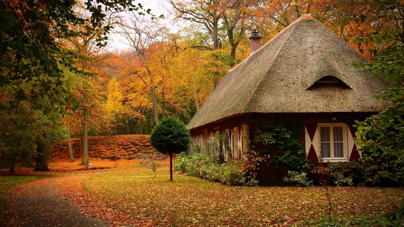 Beautiful Home Wallpapers Autumn Leaves And Beautiful Home