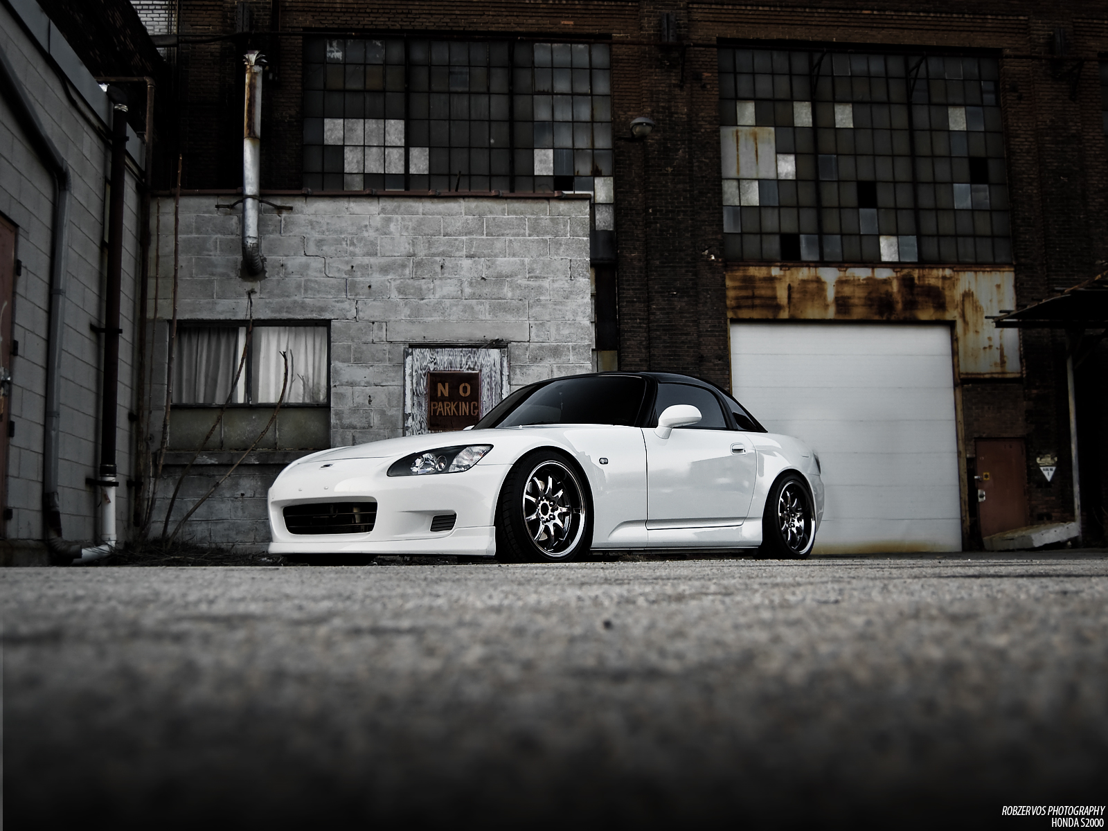 White Car Honda S2000 Wallpaper 02