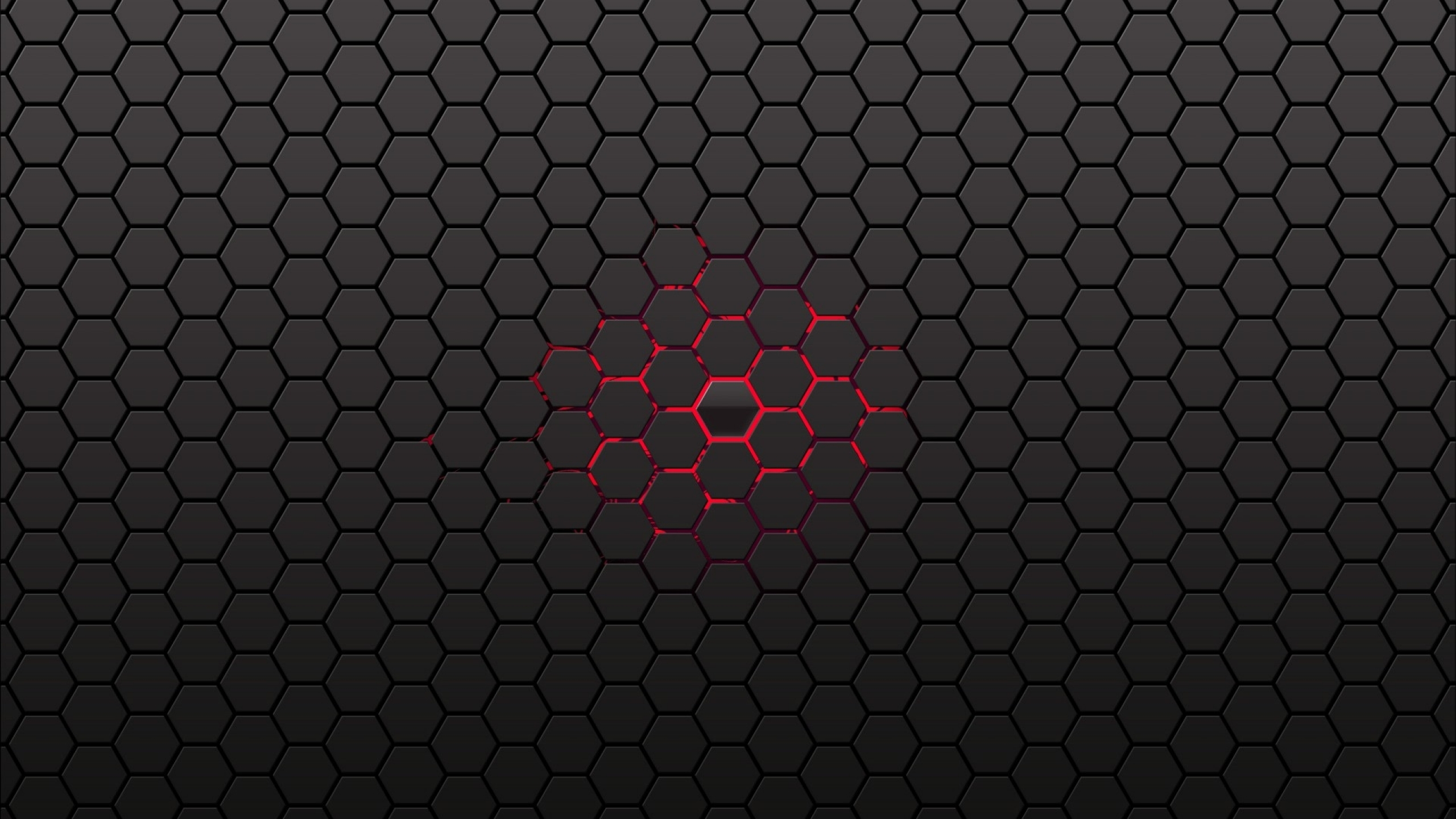 Red Honeycomb Wallpaper