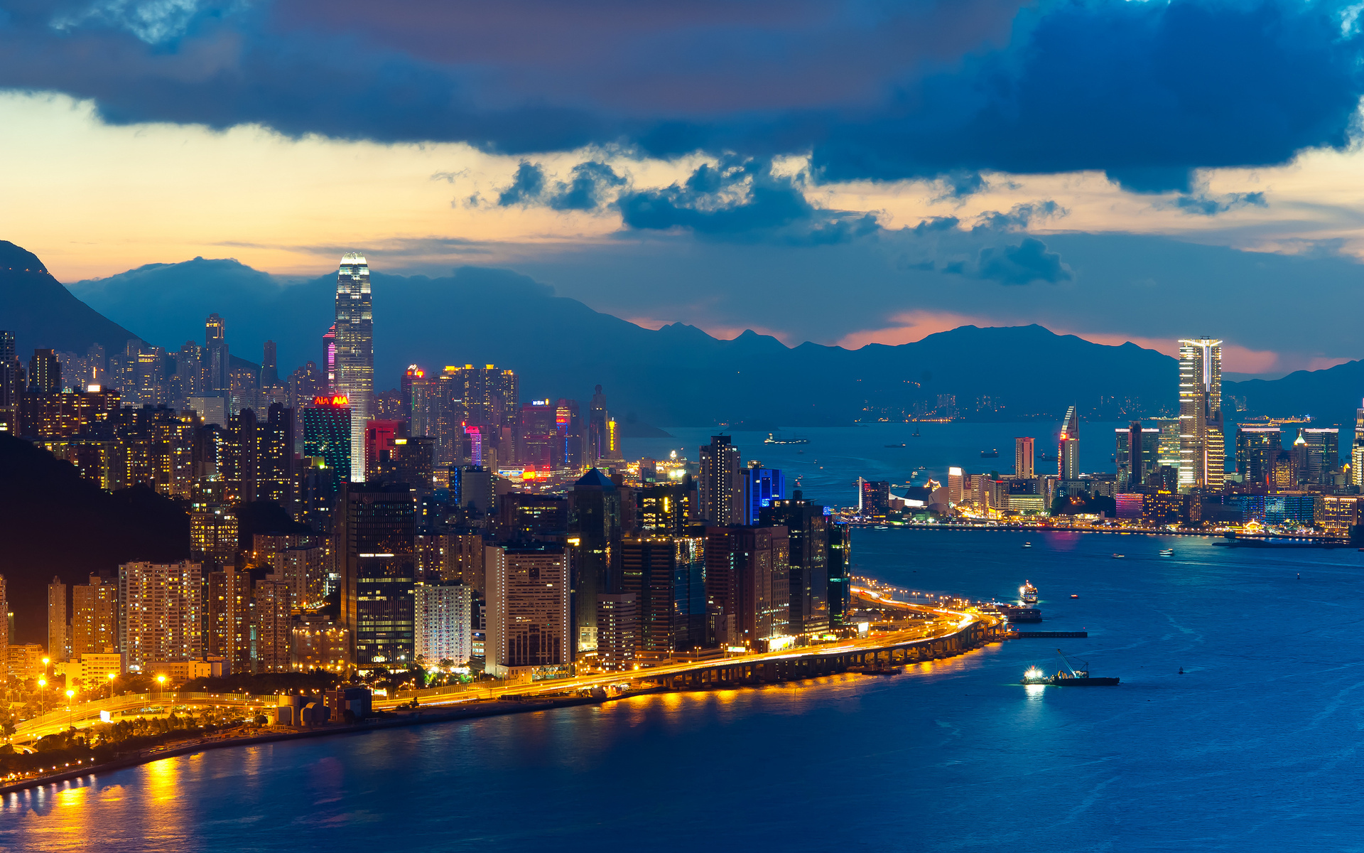 Hong kong evening