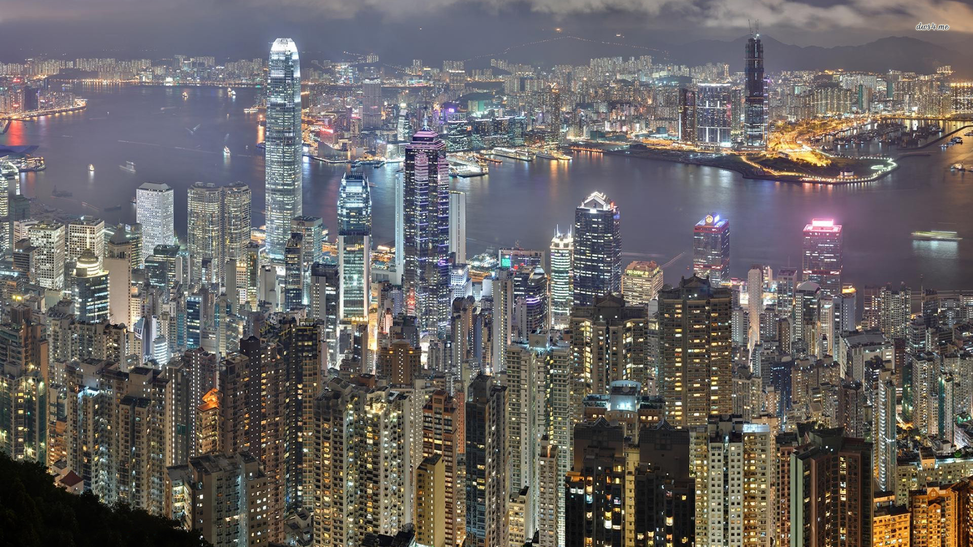 ... Hong Kong skyline wallpaper 1920x1080 ...