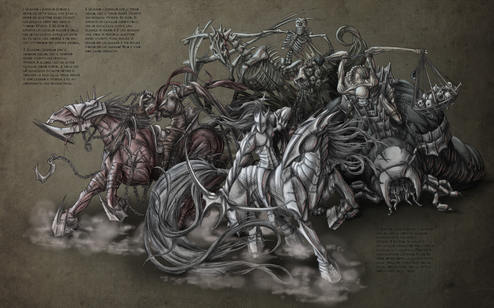 Four Horsemen Of Apocalypse Bigtaki Wallpaper #110694 - Resolution 1680x1050 px