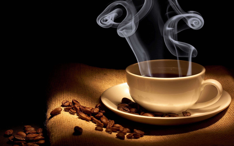 Hot coffee steam