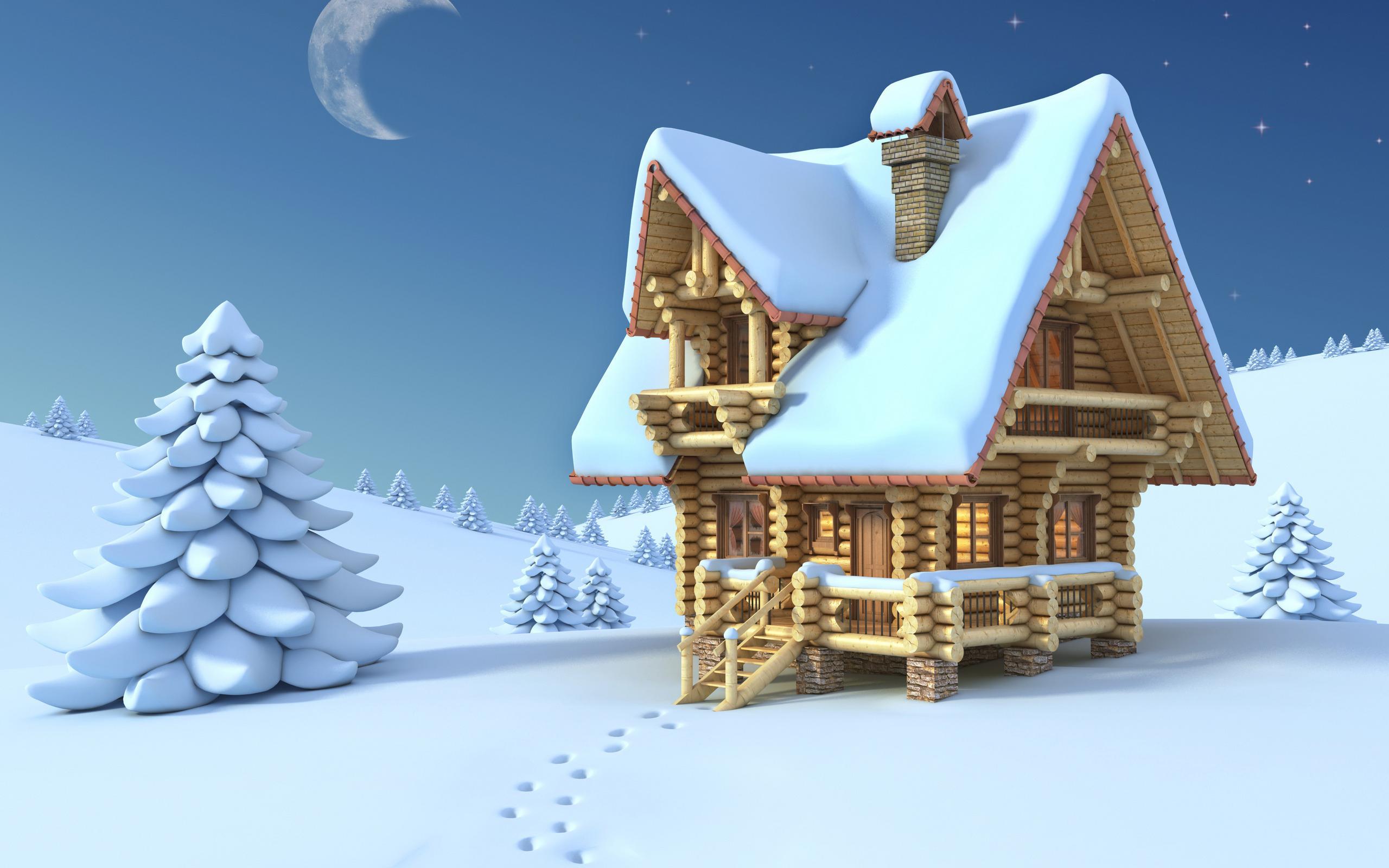 House Winter Cartoon