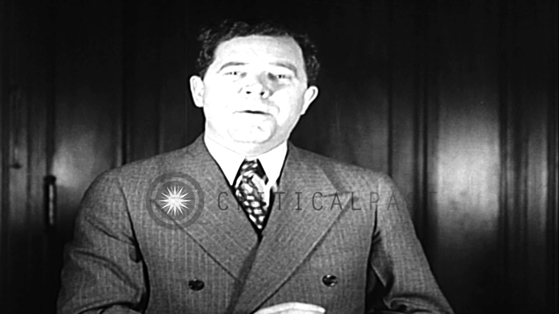 Governor Huey Long in his speech lashes out at his critics in Louisiana. HD Stock Footage