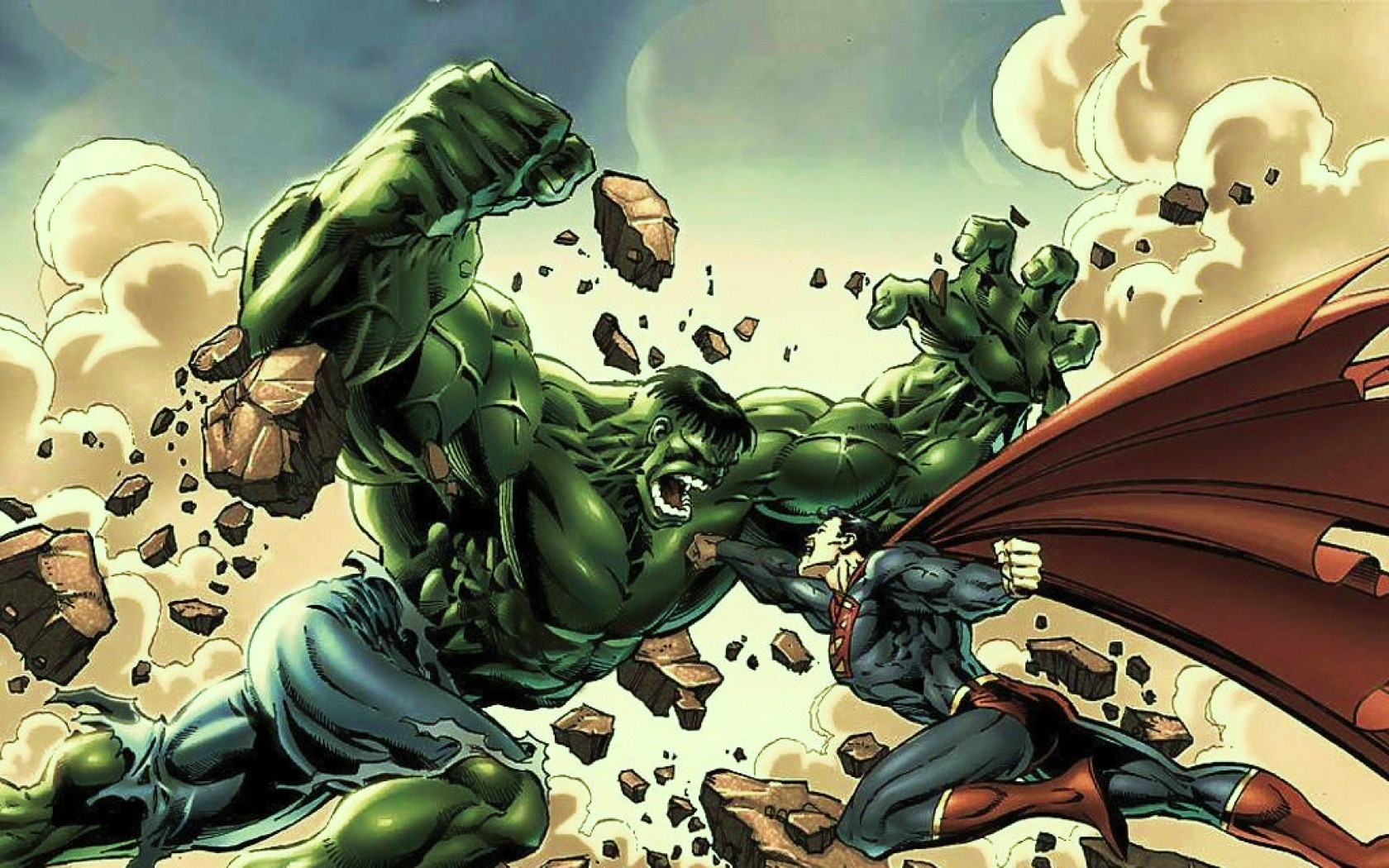 Neither one of them can really die either. The Hulk's regeneration speed is so fast it's almost impossible to actually finish him once and for all.