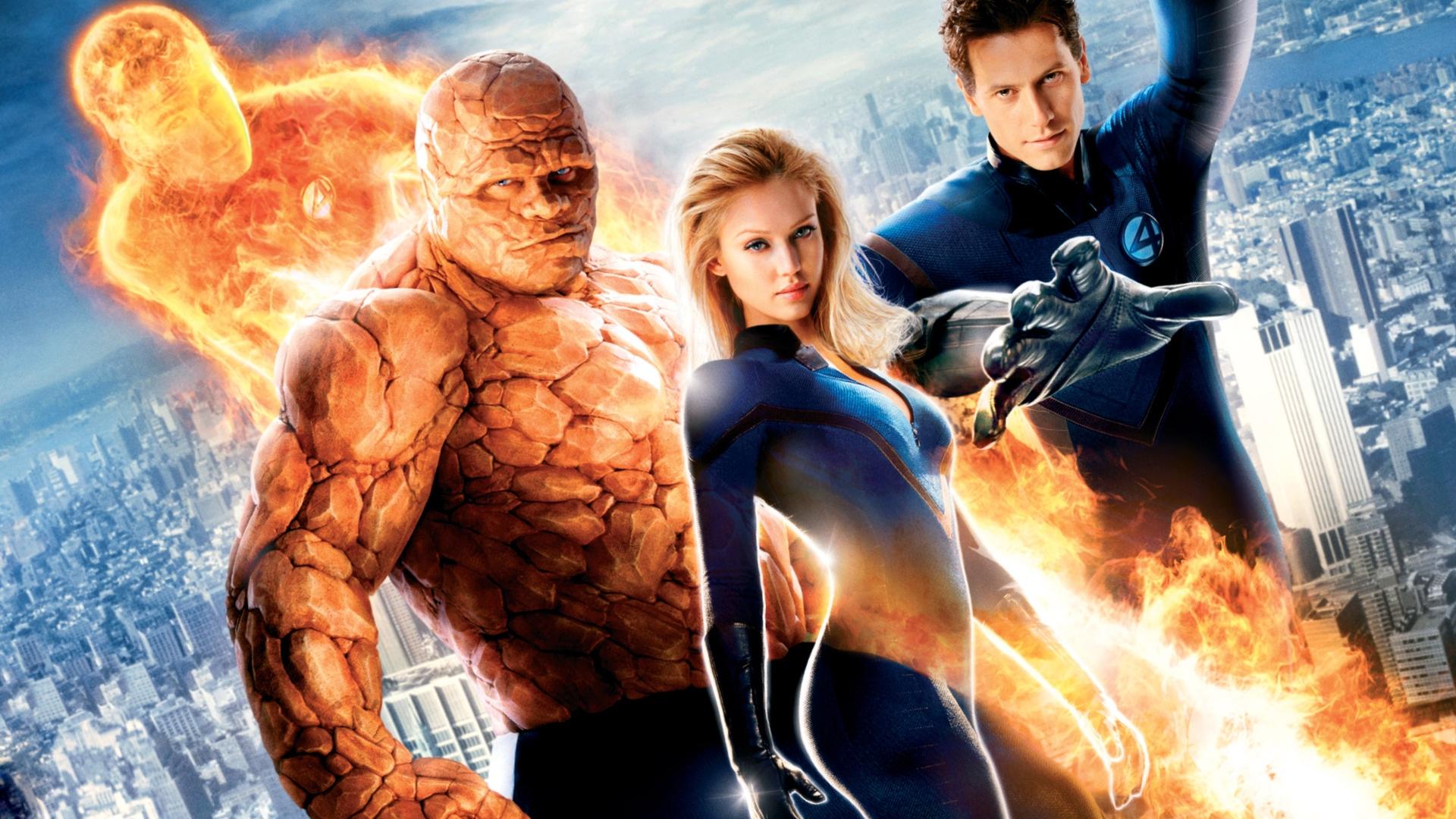 Download 1920x1080 Superheroes, Fantastic 4, Team, Marvel, Thing, Mr fantastic, Invisible woman, Human torch, Ioan gruffudd, Jessica alba, Chris evans, ...