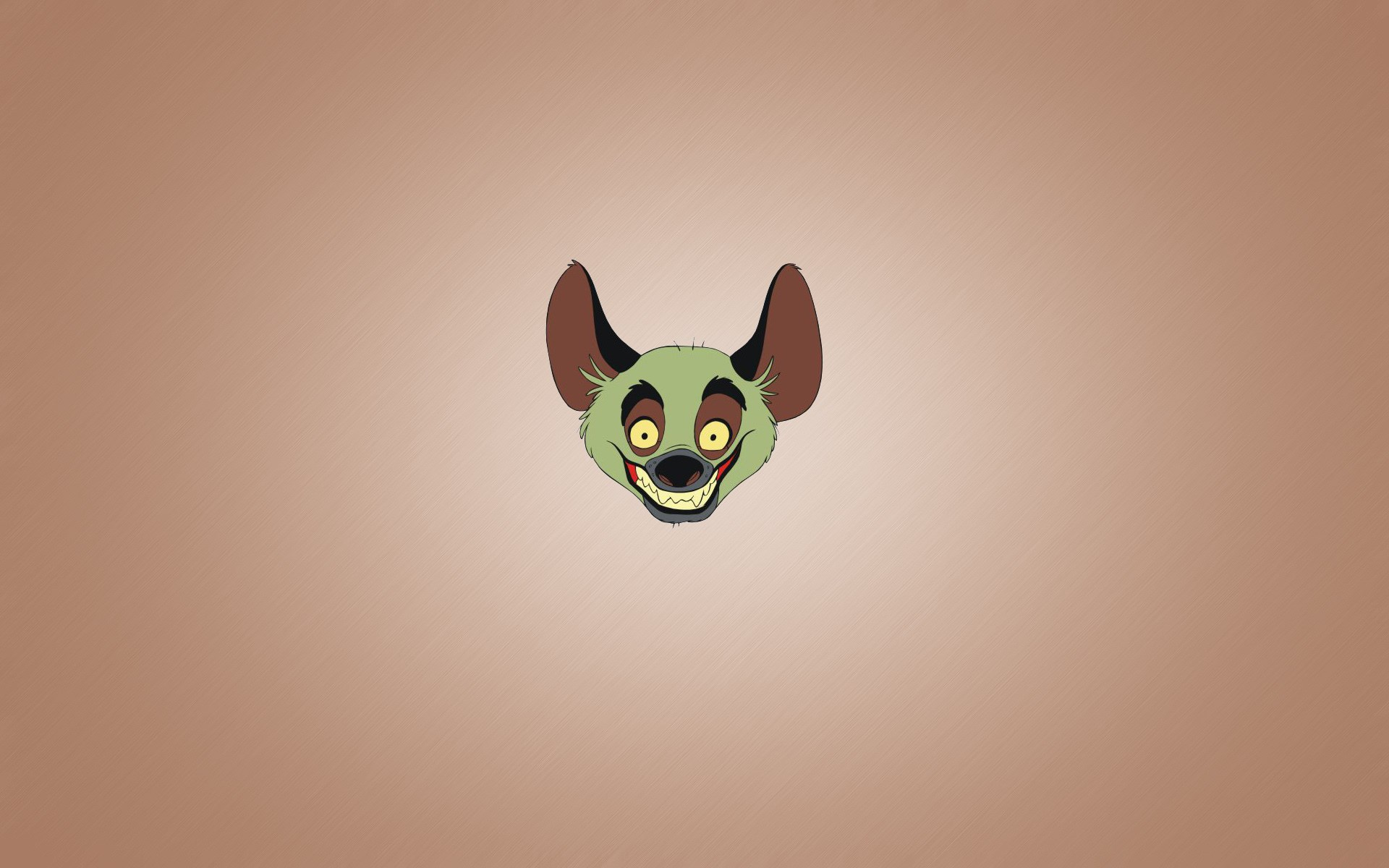 Hyena Smile Animal Minimalism Cartoon