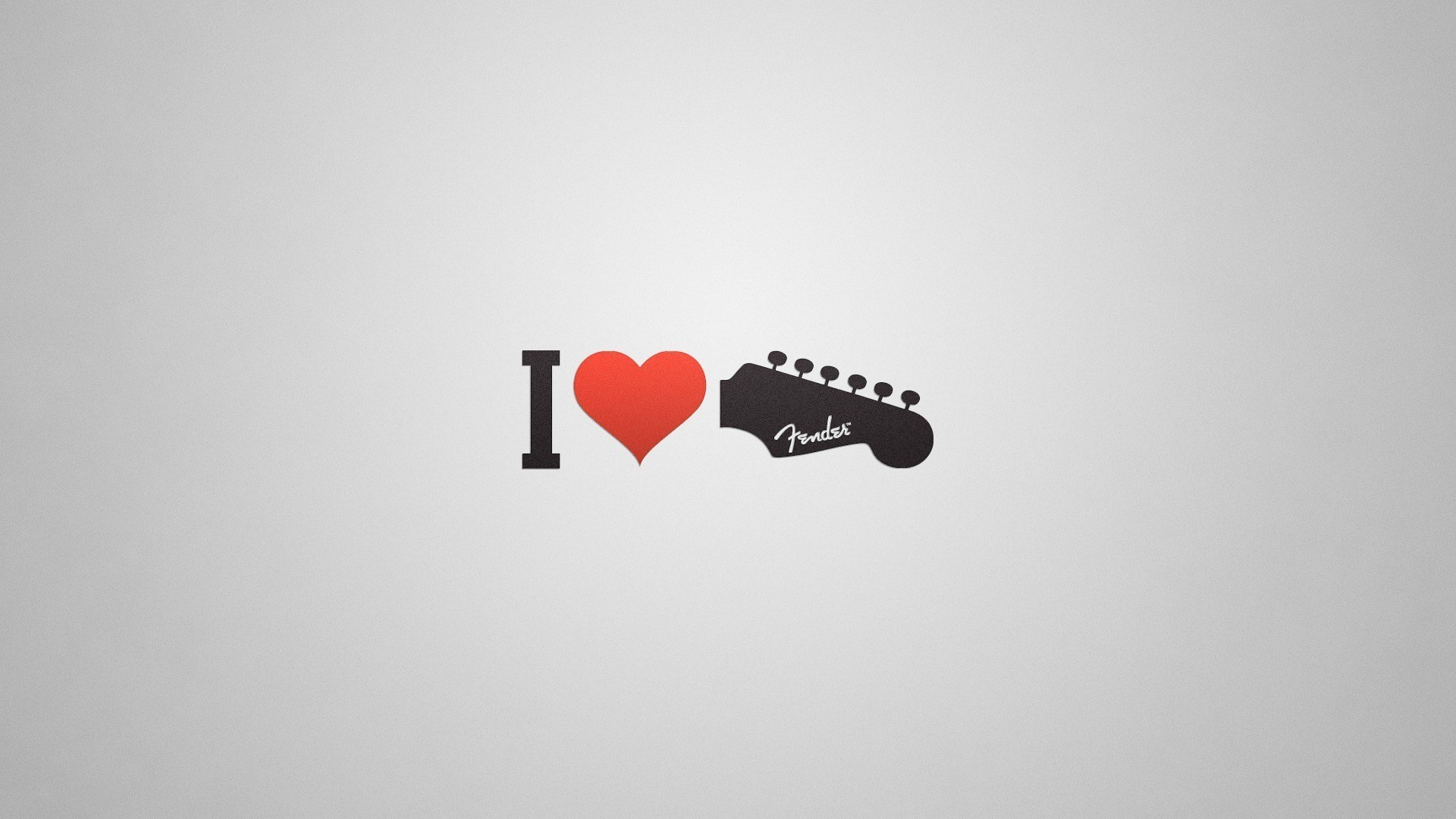 I Love Guitar Red Heart Creative