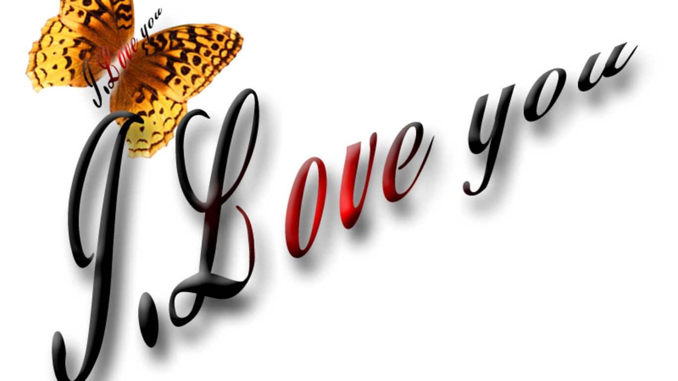 I Love You Wallpaper 1366x768 43291