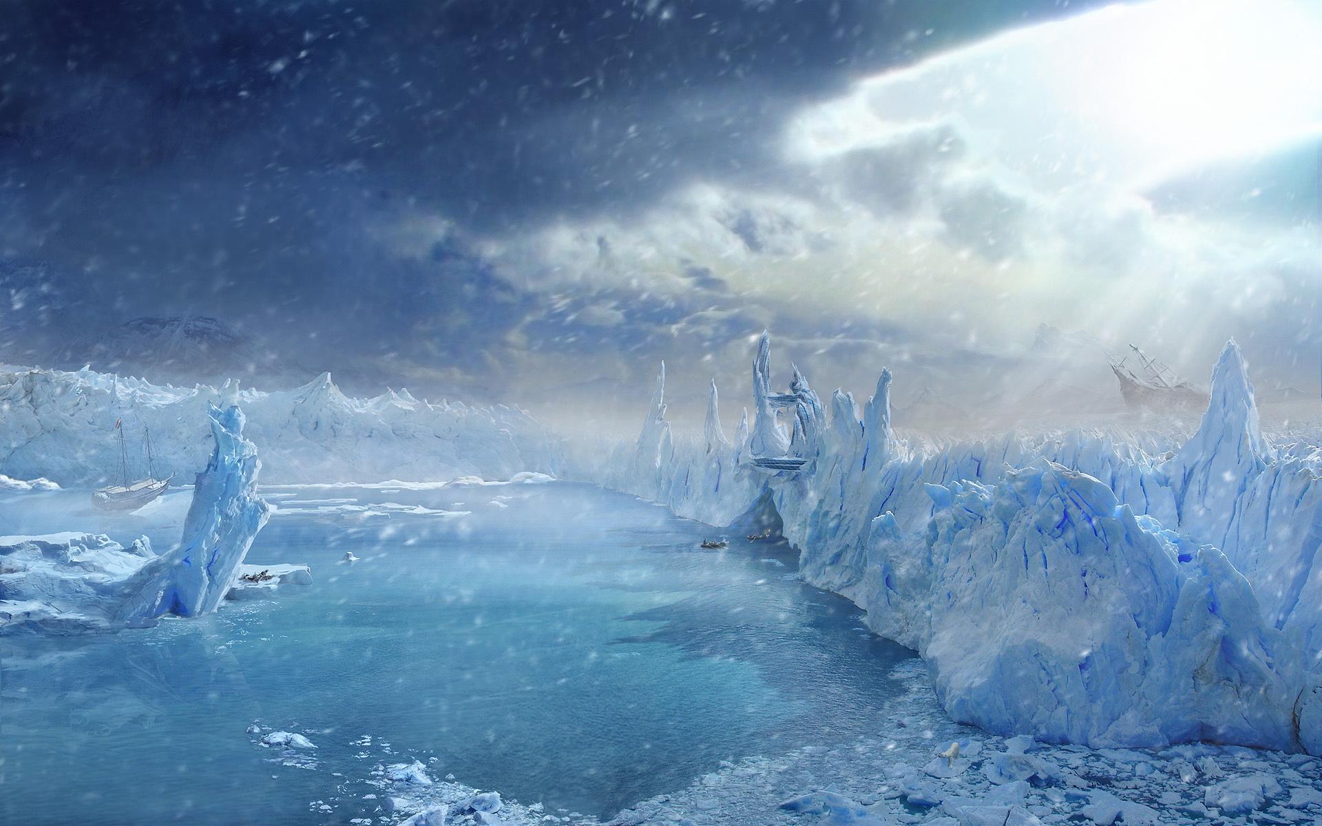 Fantasy Ice Wallpaper