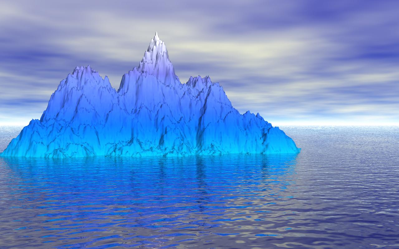 blue iceberg amazing wallpaper