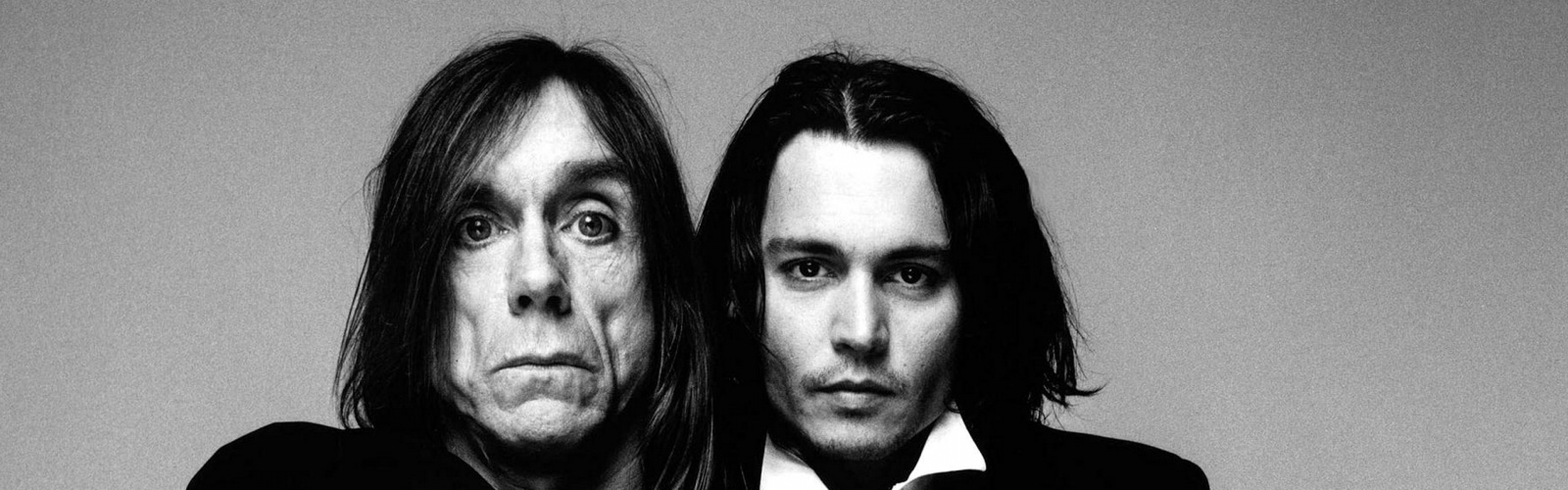 3840x1200 Wallpaper johnny depp, iggy pop, men, actors, celebrities