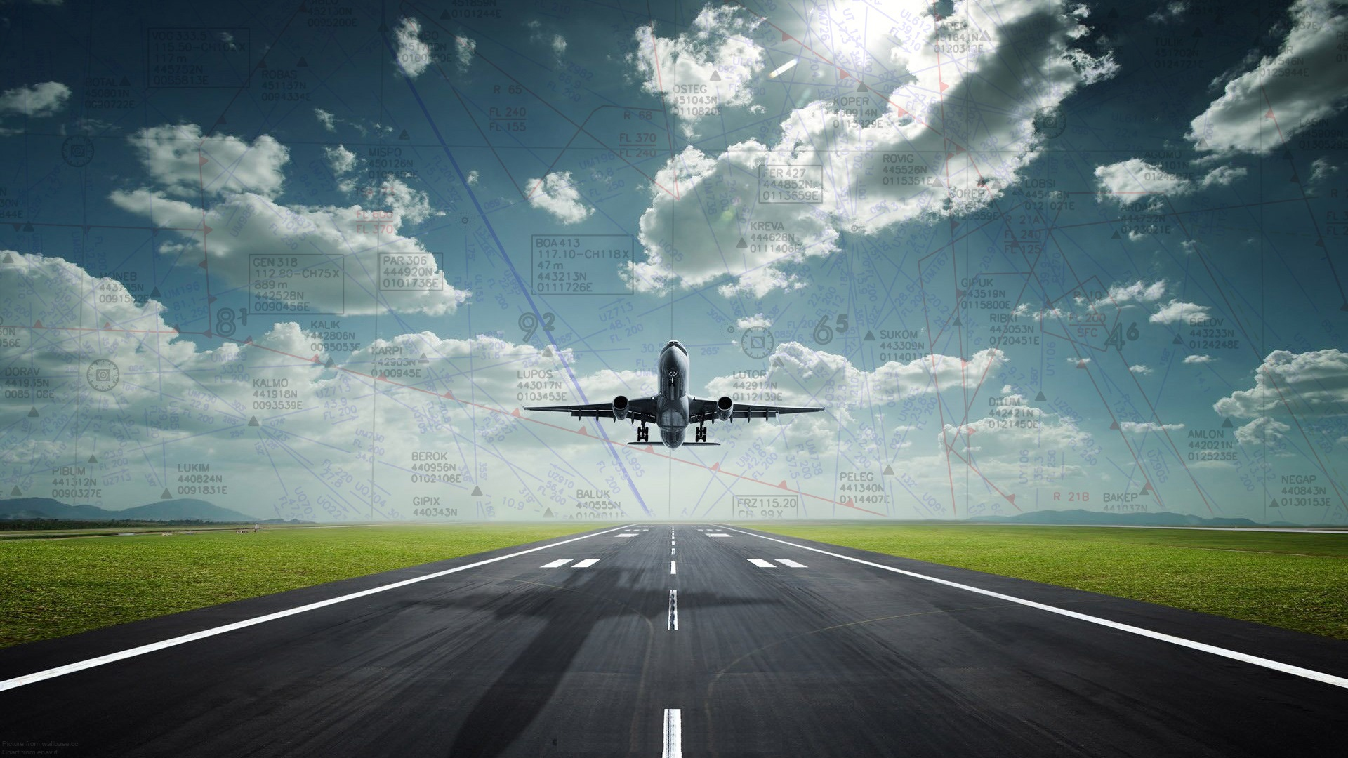 In Flight Backgrounds