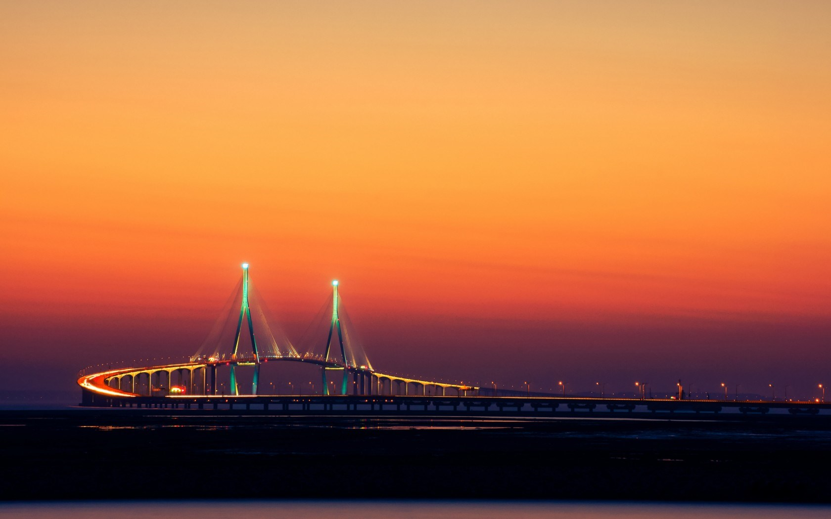 Incheon bridge sout korea